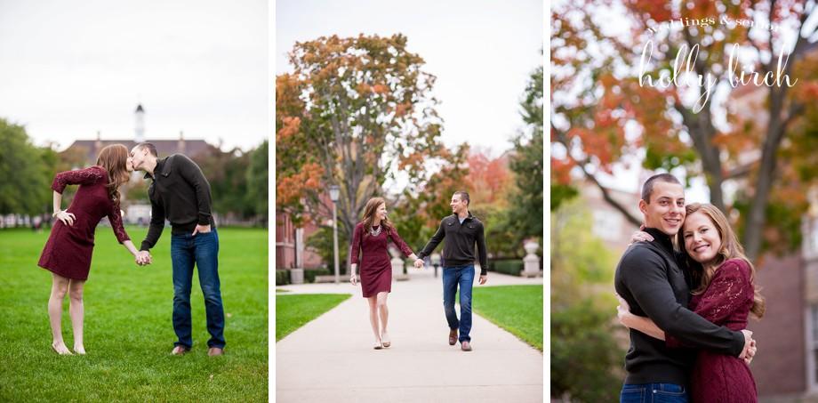 Fall autumn Quad engagement pictures