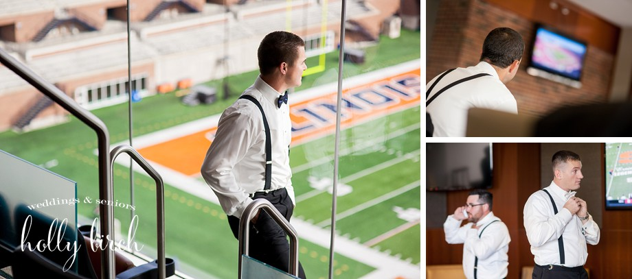 fall football wedding