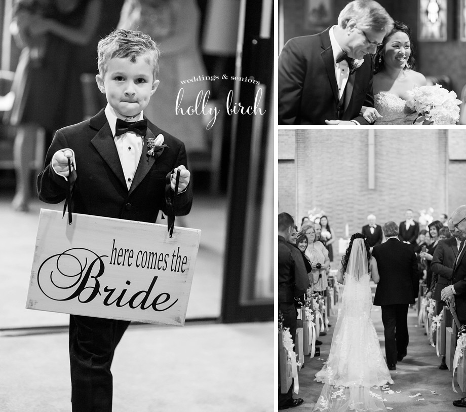 black-and-white wedding ceremony