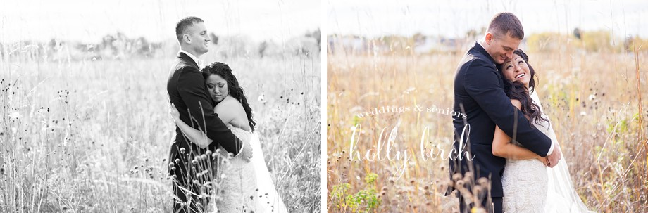bride groom weed field portraits