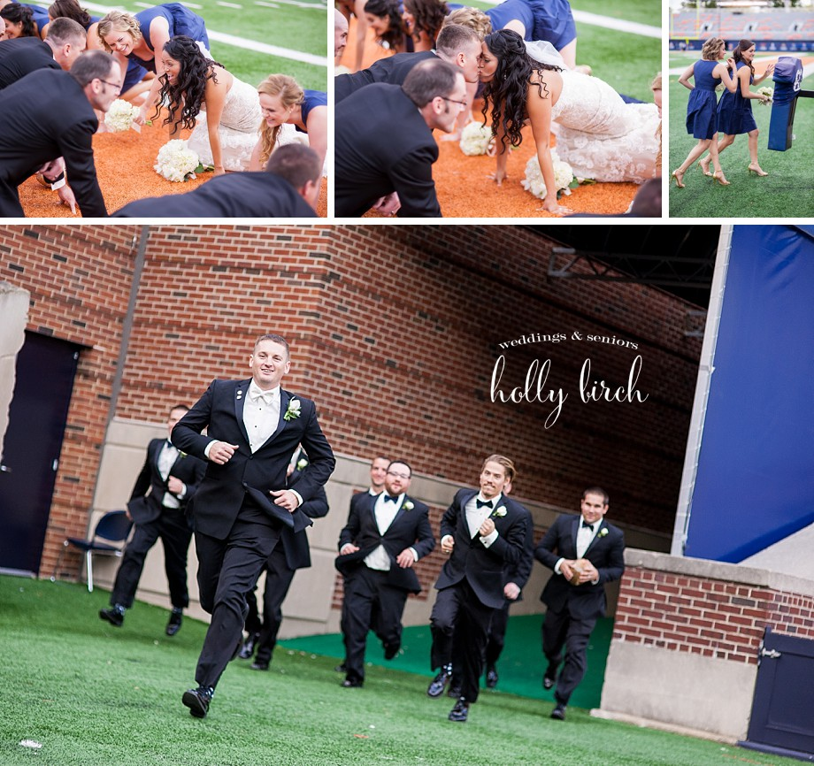 football wedding pictures