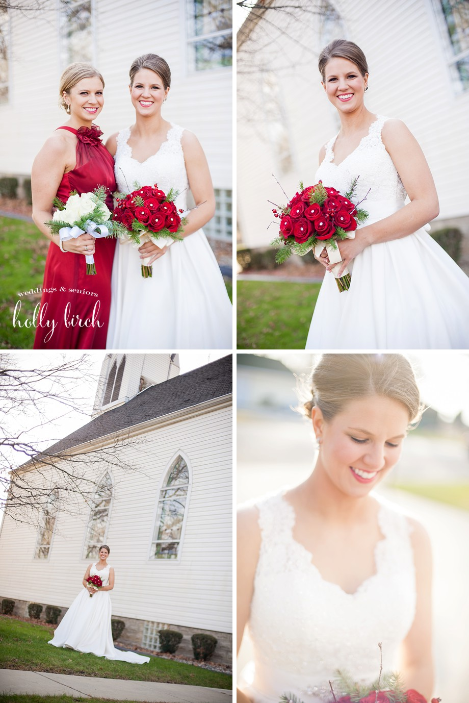 winter wedding porttraits