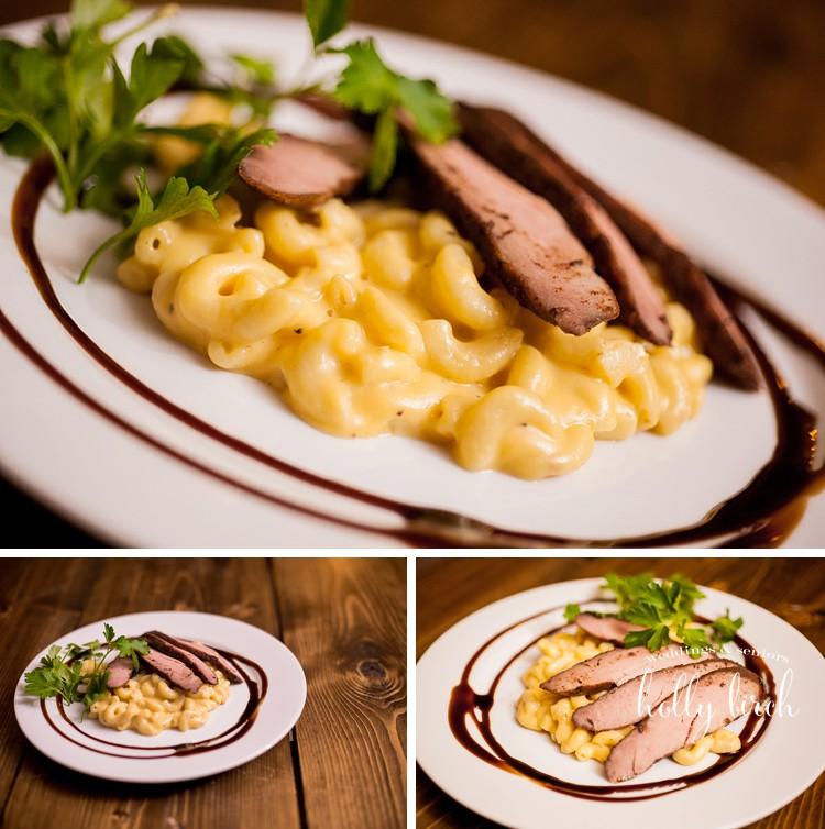 pork loin with mac n cheese