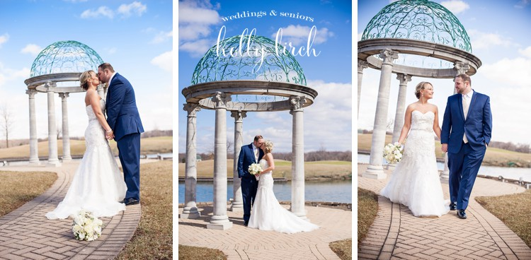 blue skies March wedding portraits