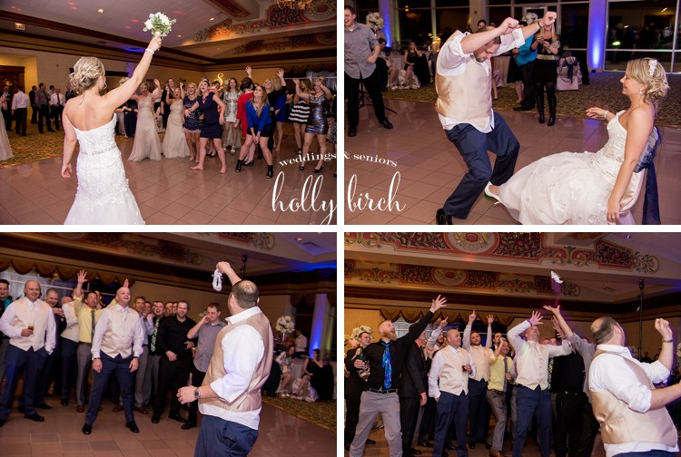 bouquet and garter tosses