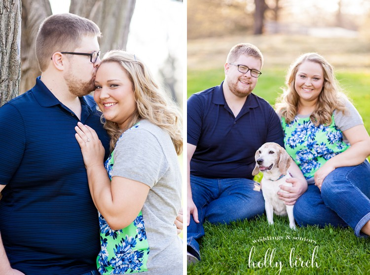 park engagement photos with dog