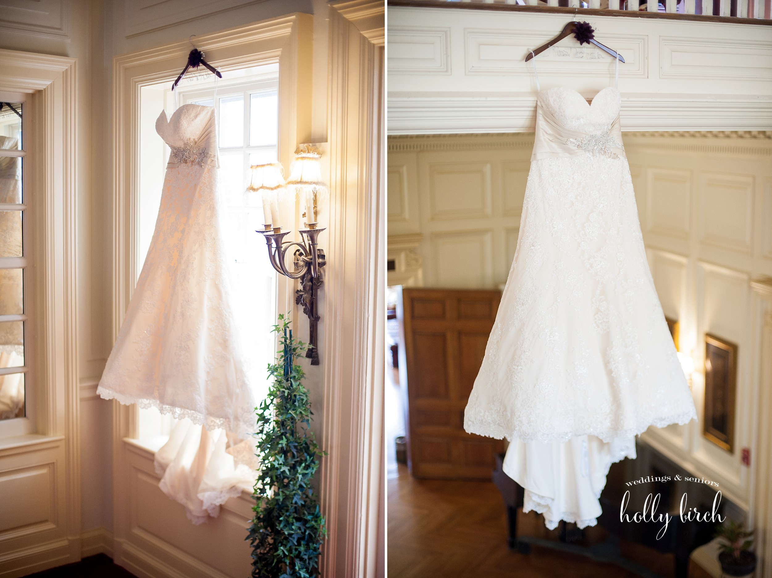 wedding dress at Allerton Mansion
