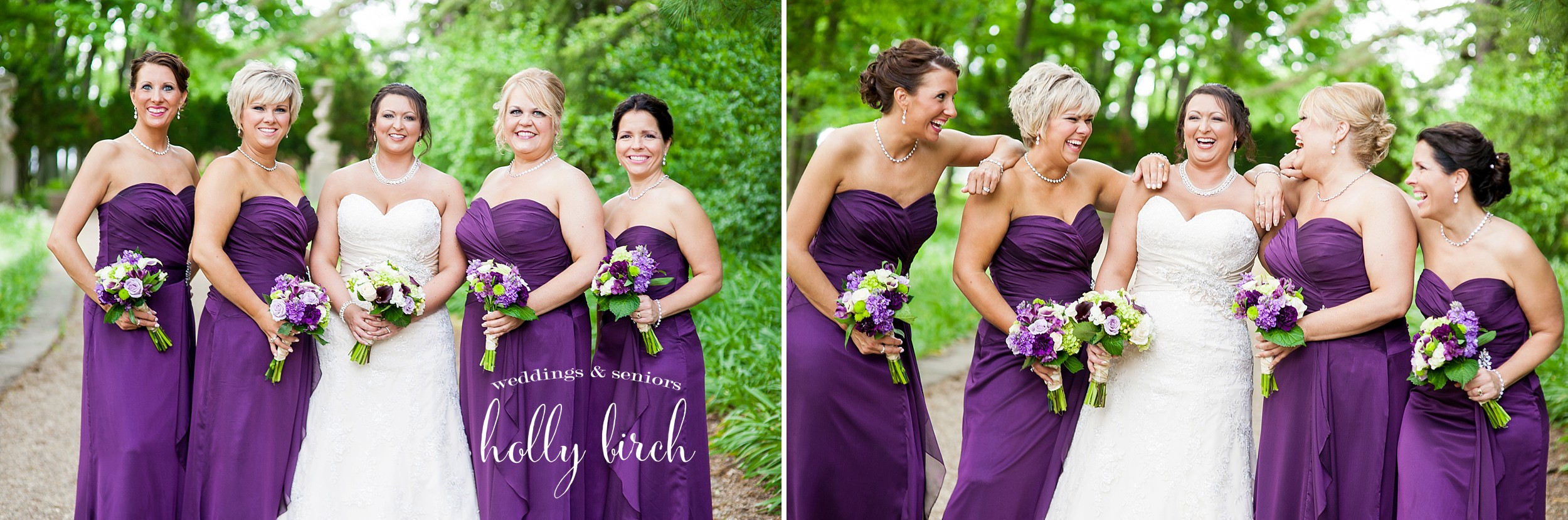 bridesmaids purple dresses
