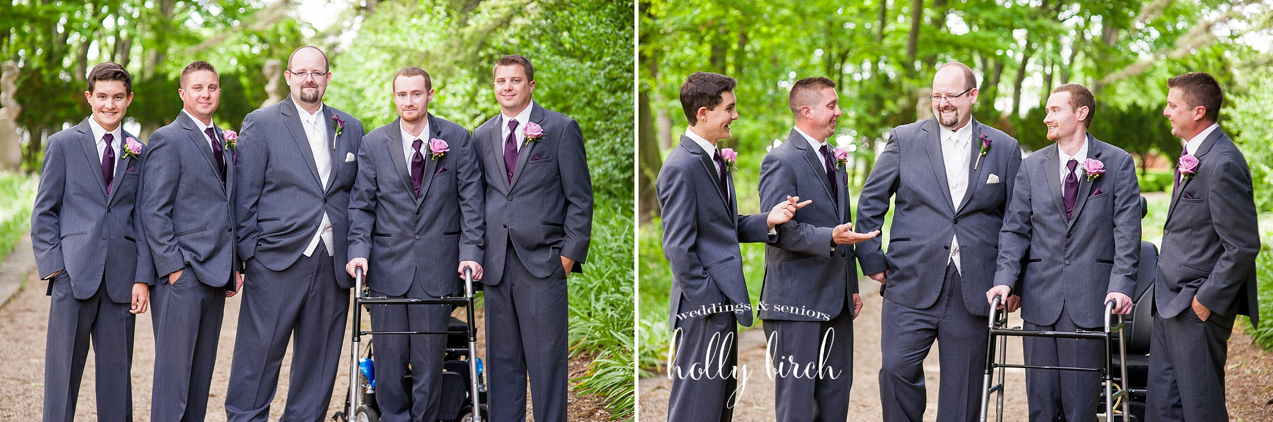 groomsmen dark gray tuxes