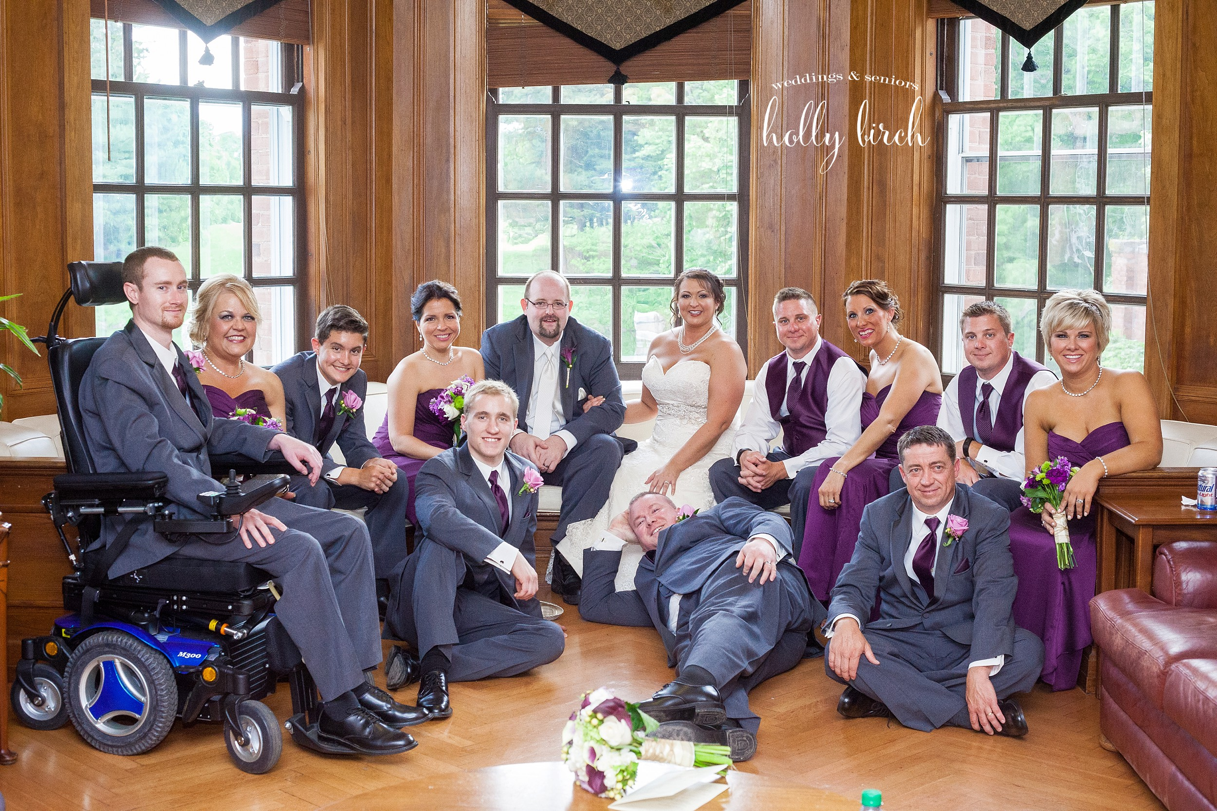 casual wedding party image