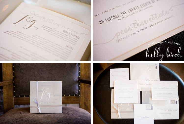 Cloud Nine paper invitation suite