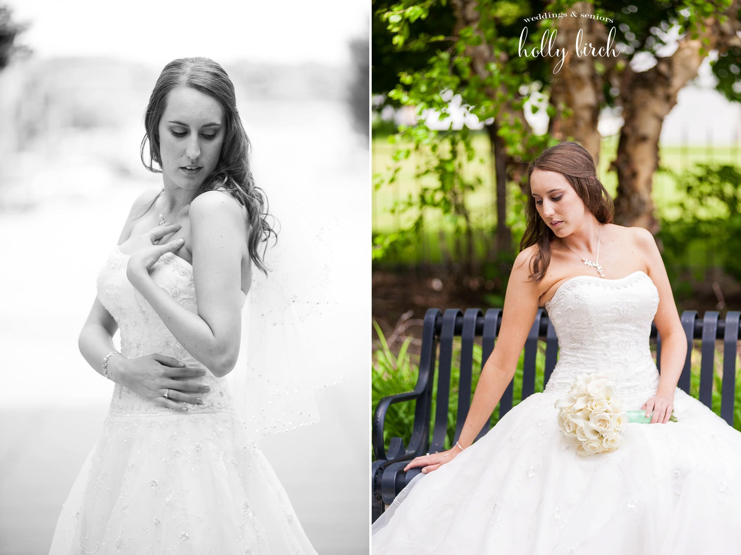 bride model poses
