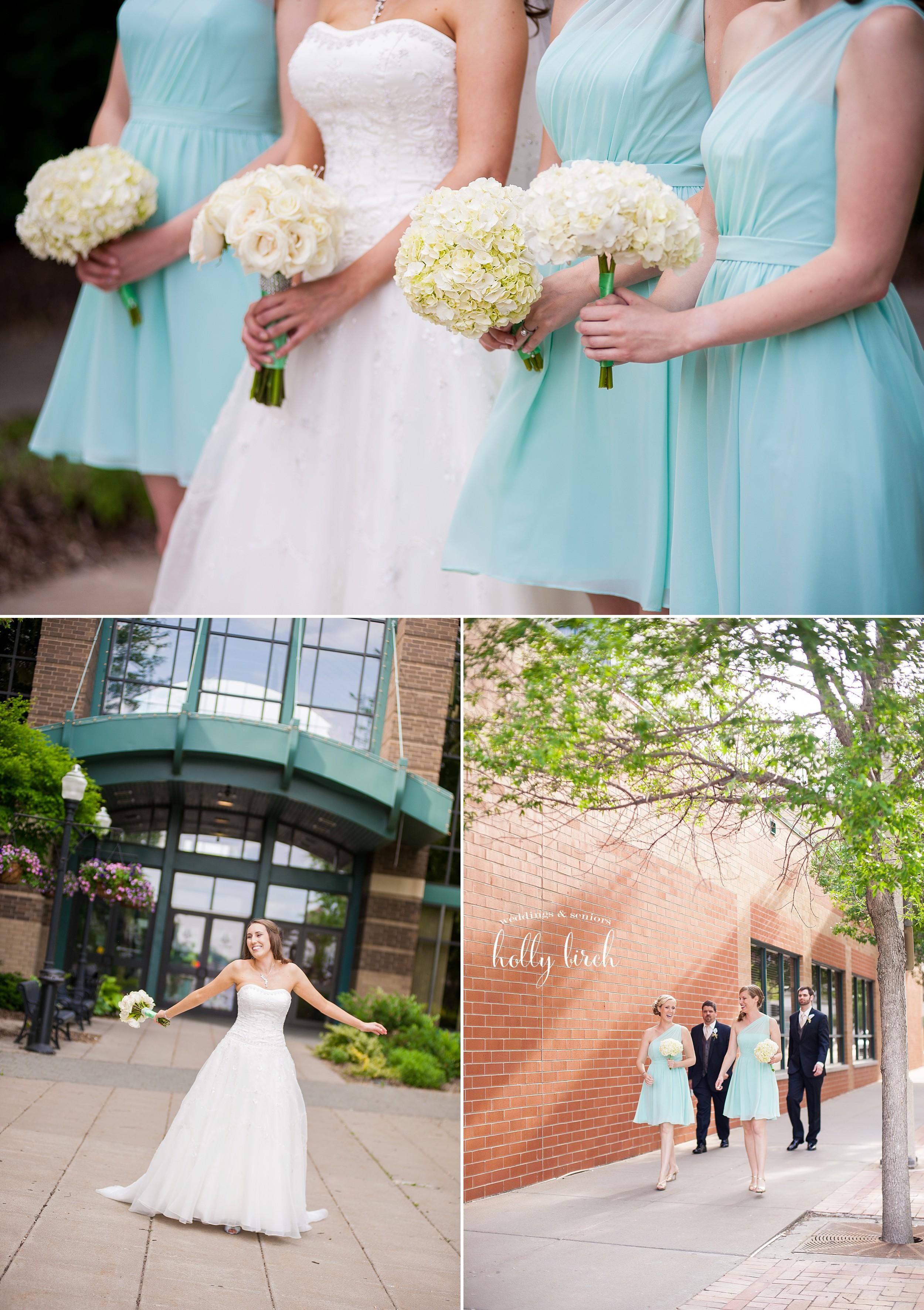 mint wedding candids