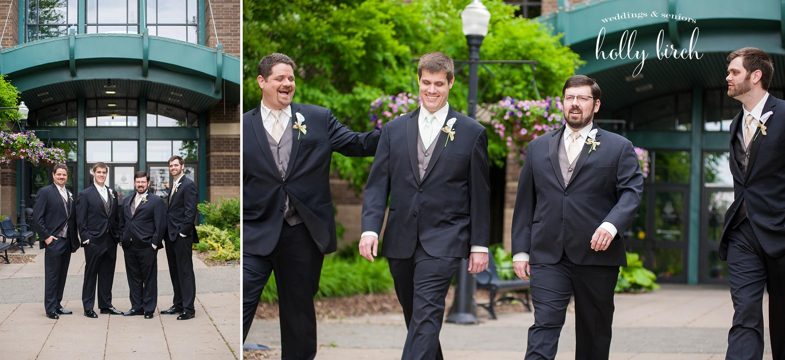 groomsmen candid shot