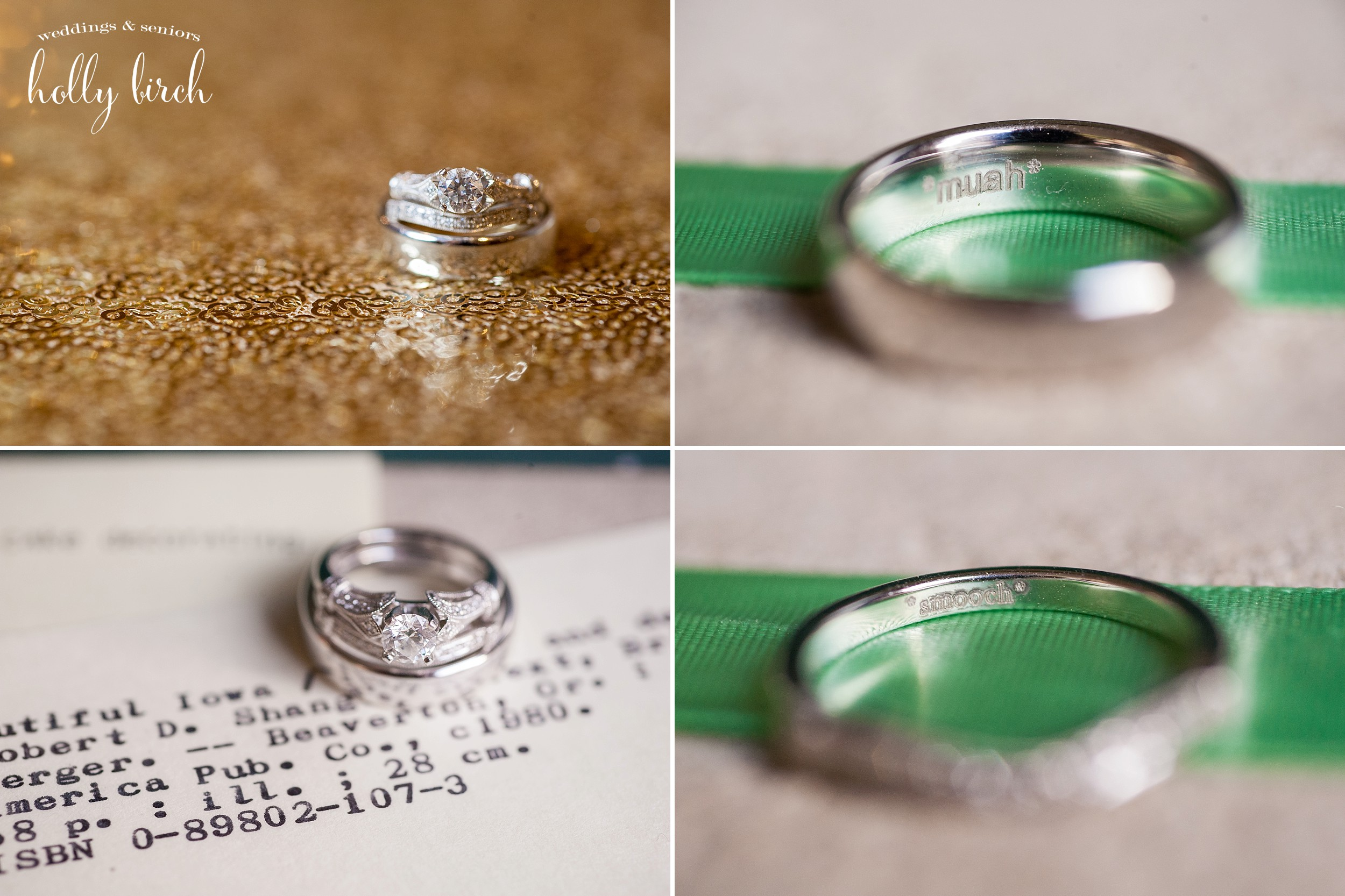 mint silver rings engraved