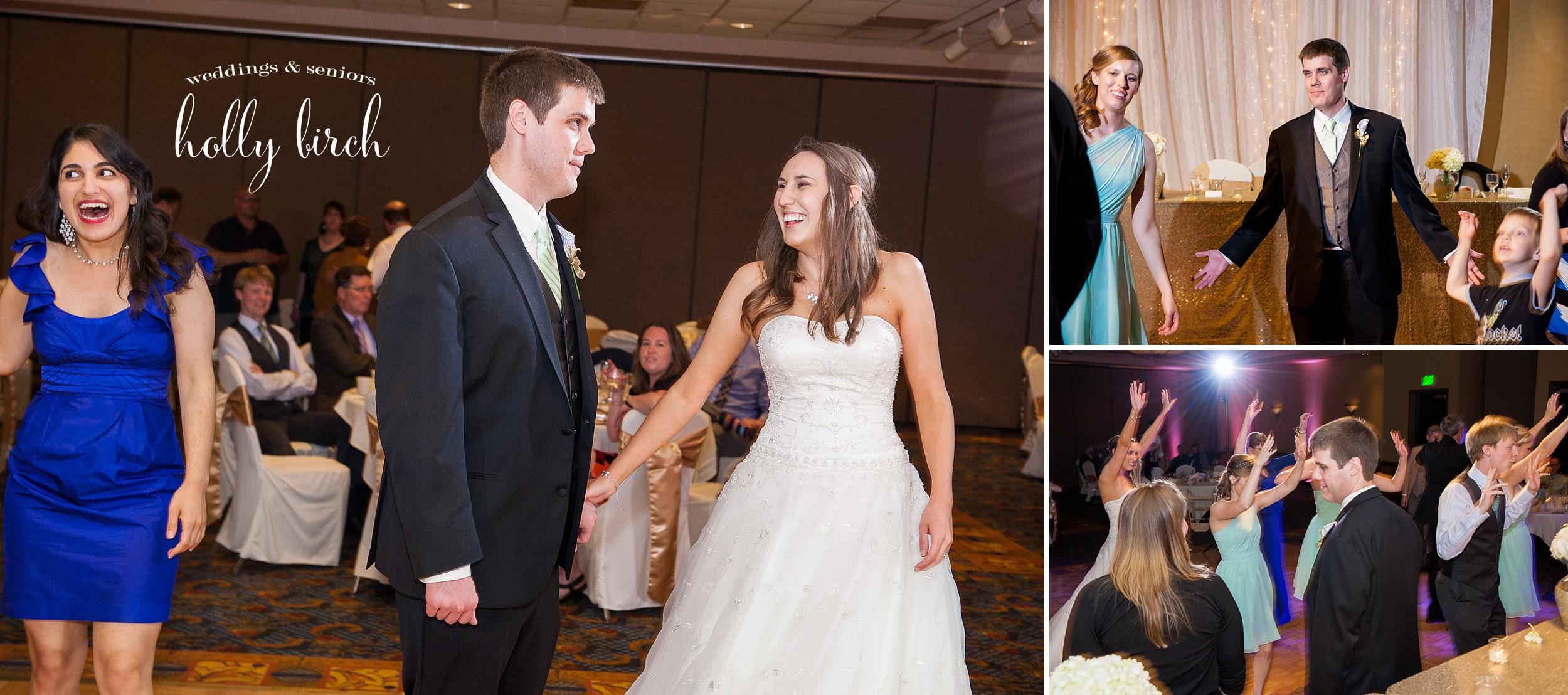 groom is on the dance floor