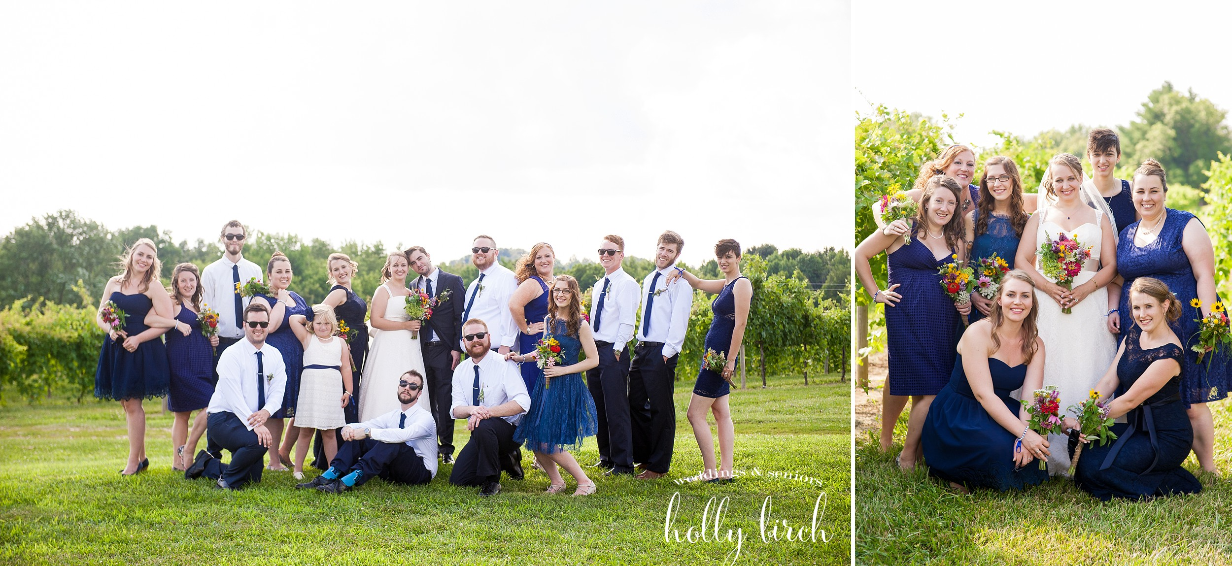 modern wedding party pose