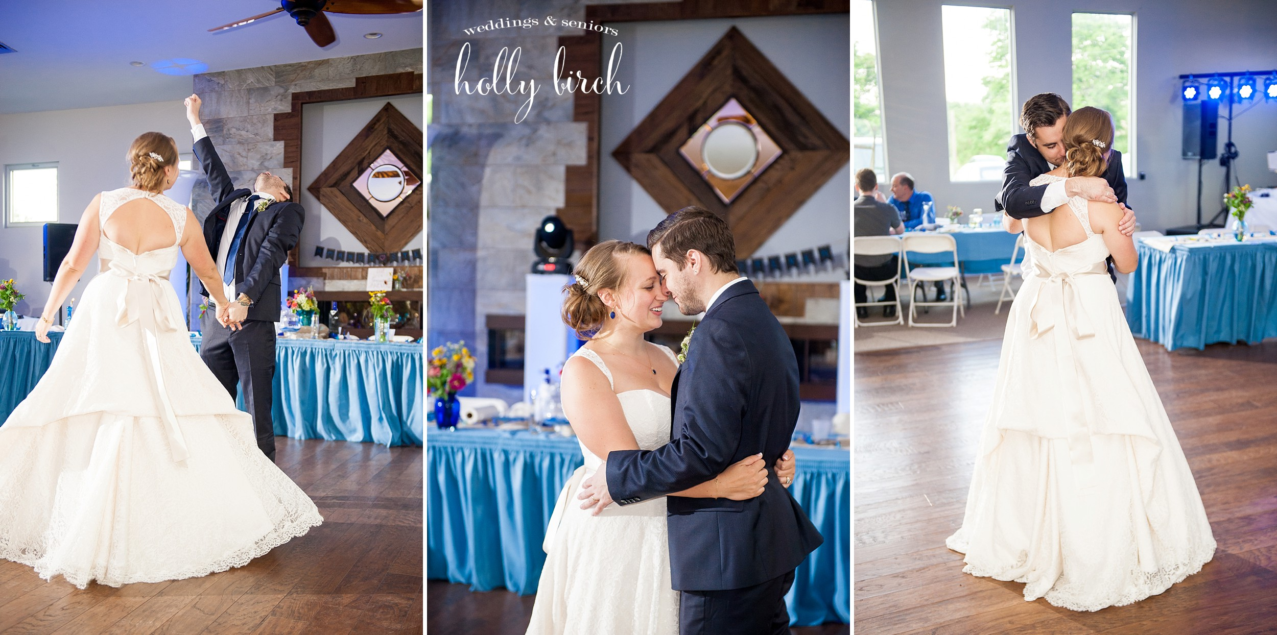 first dance at Alto Vineyards tasting room