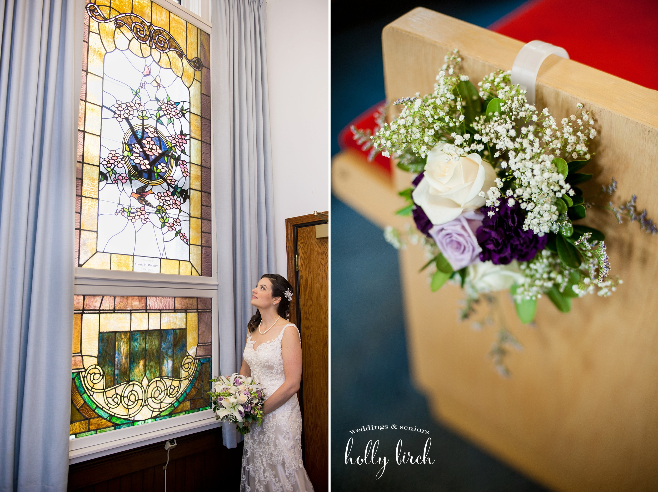 old stained glass wedding picture