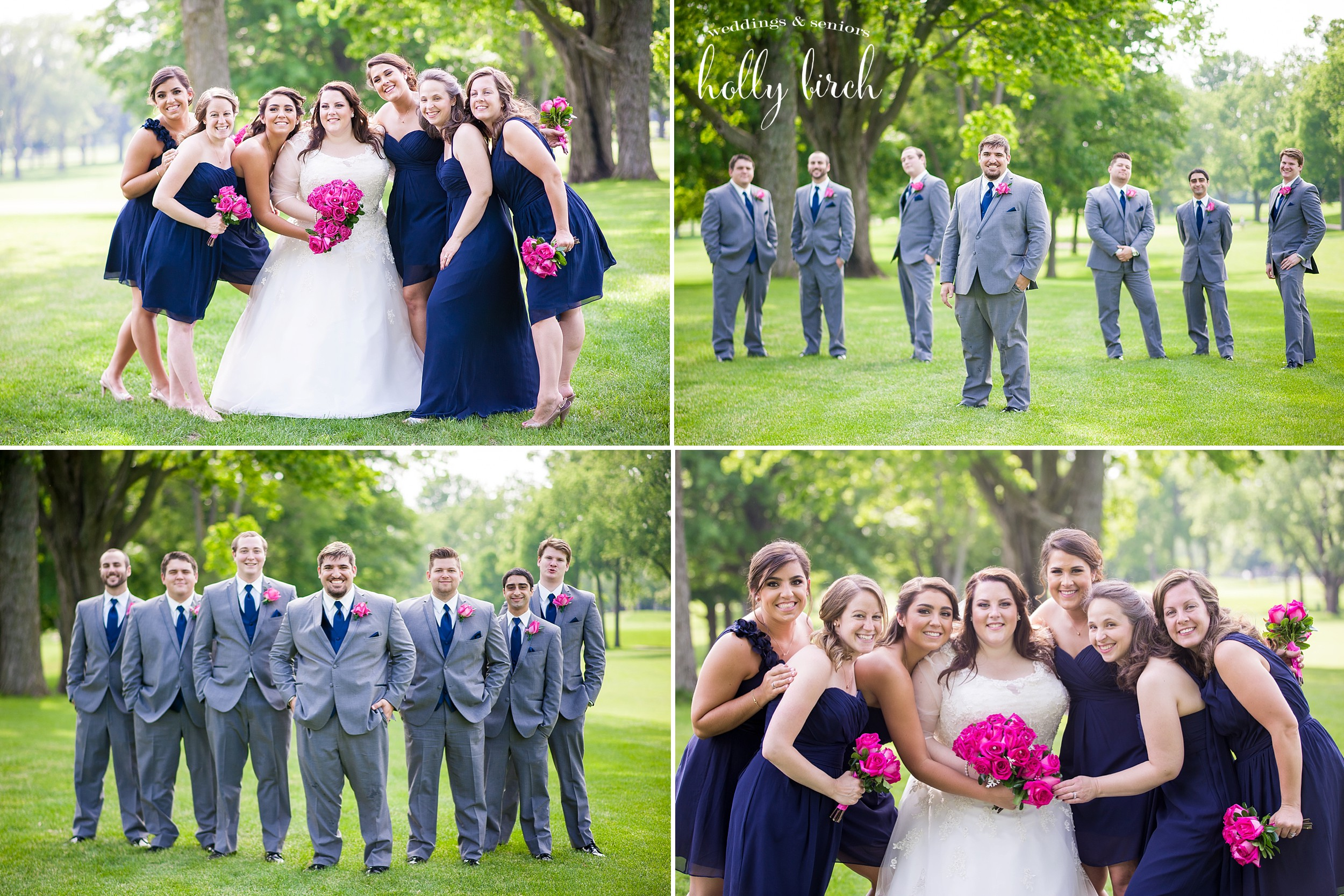 bridesmaids and groomsmen