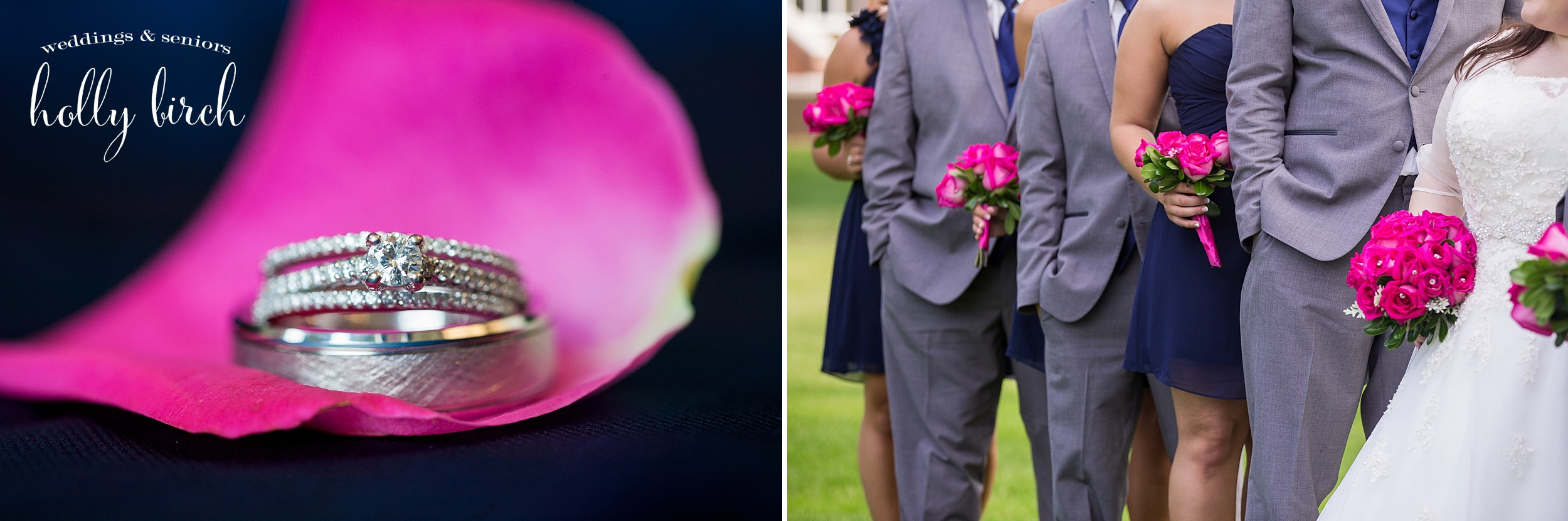 pink navy flowers petals and rings