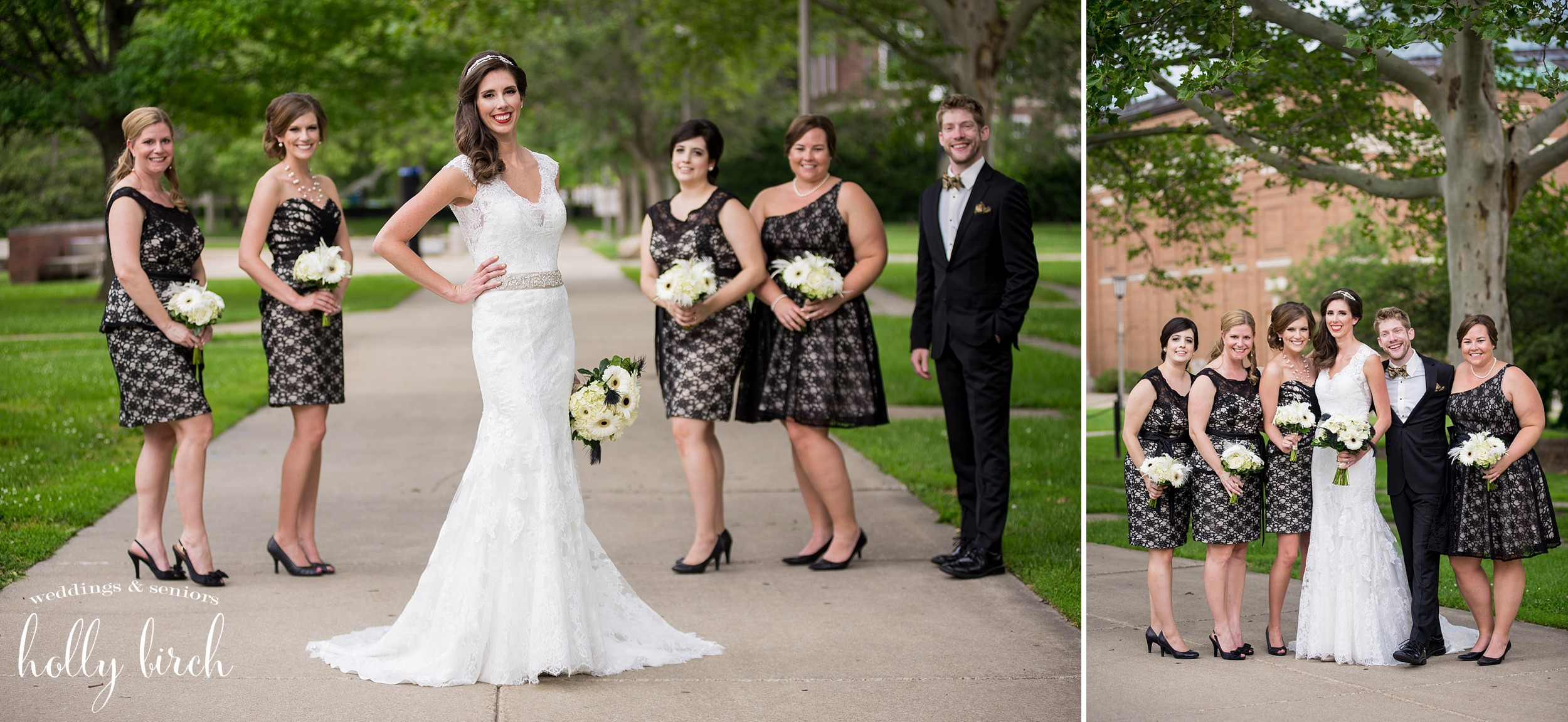 bridesmaids black lace dresses