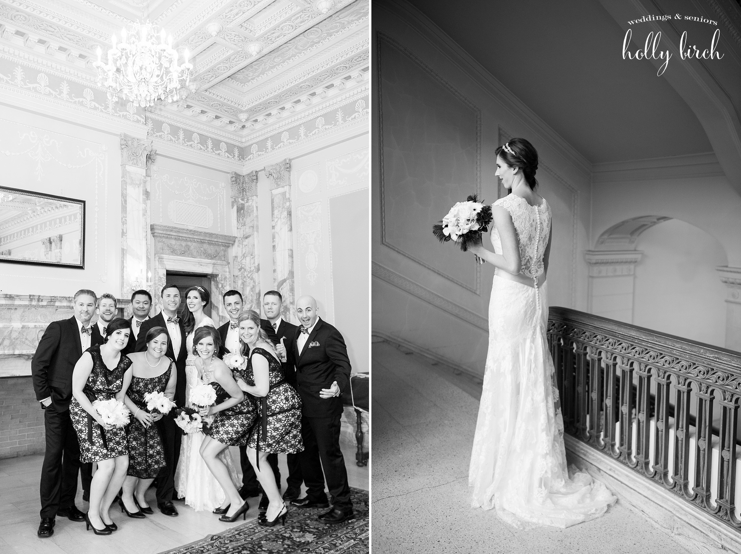 Smith Memorial Hall wedding portraits
