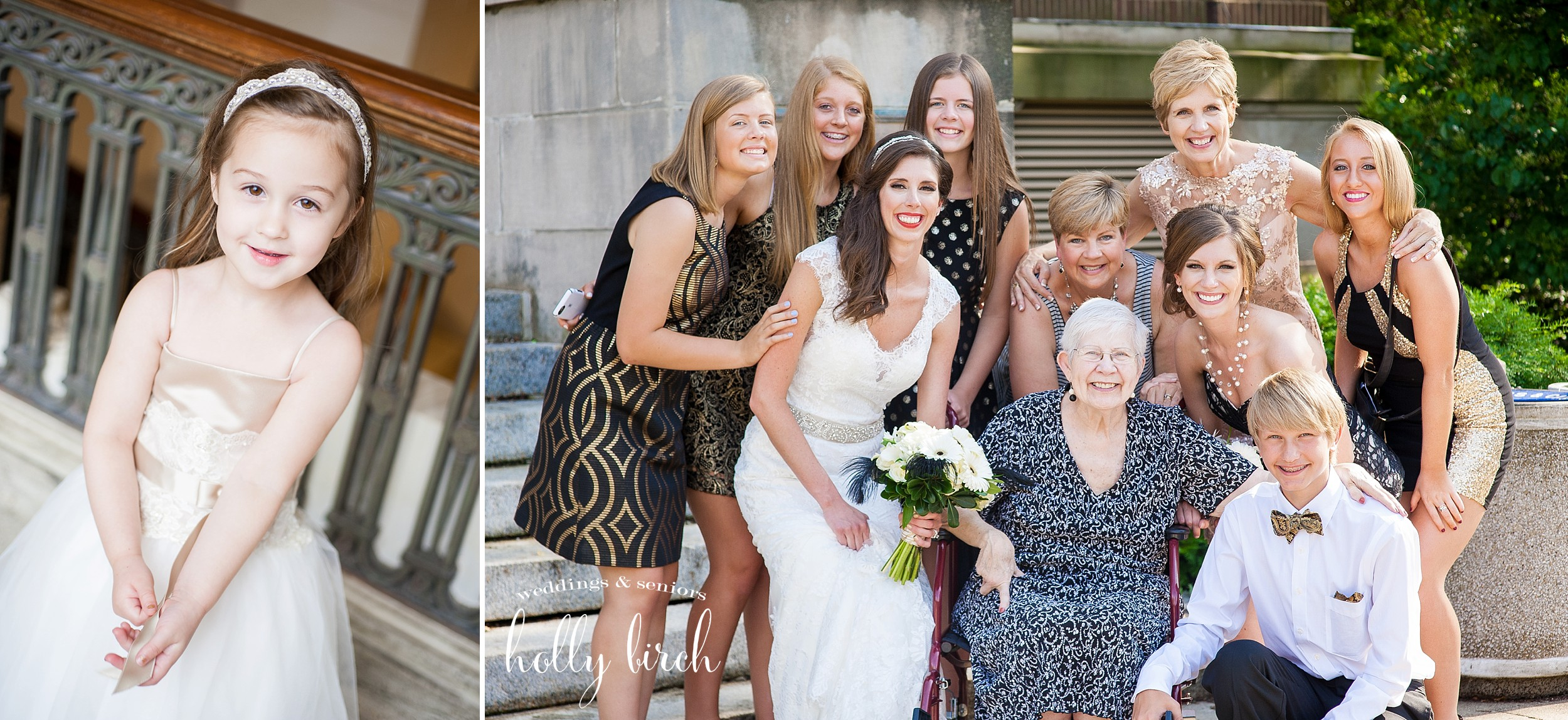 family generations wedding portrait