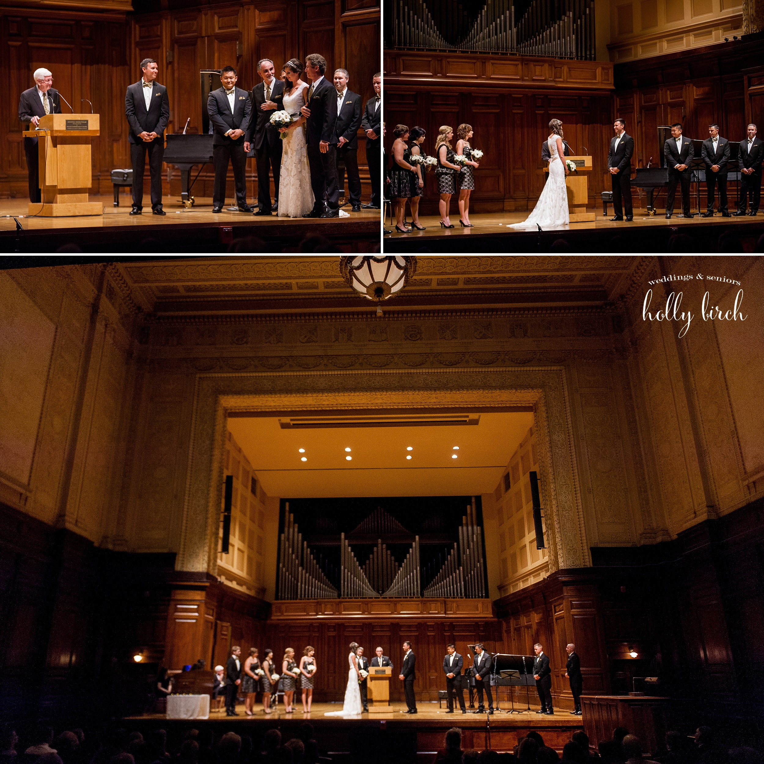 Smith Memorial Hall wedding ceremony