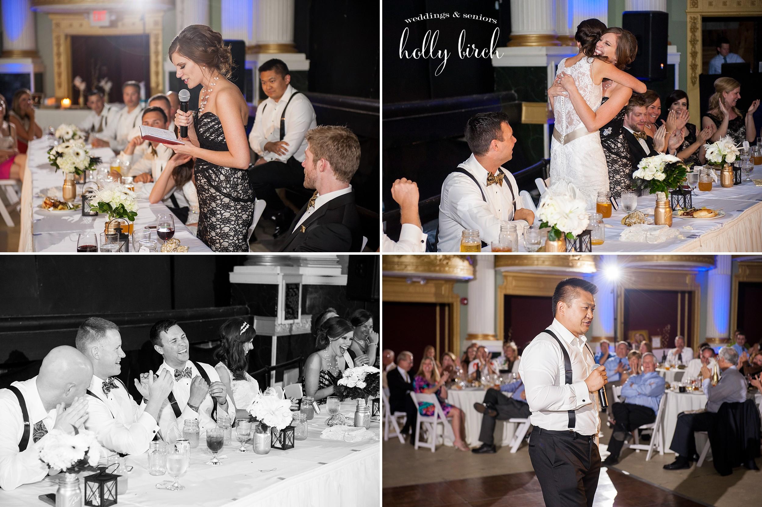 wedding toasts at Orpheum