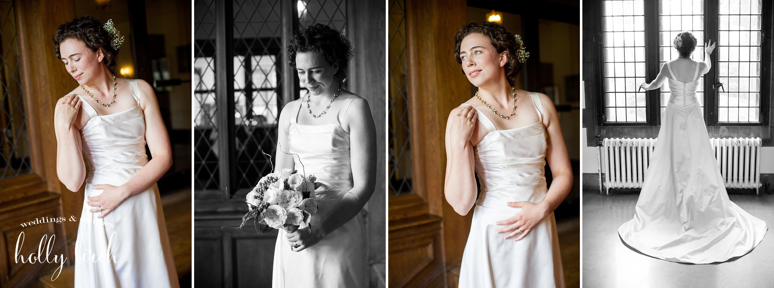 bridal portraits in window light