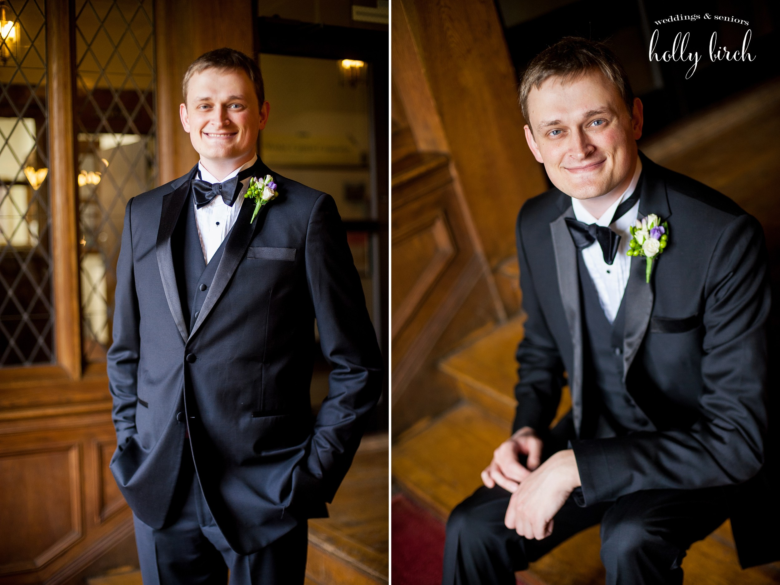 groom portraits with bow tie
