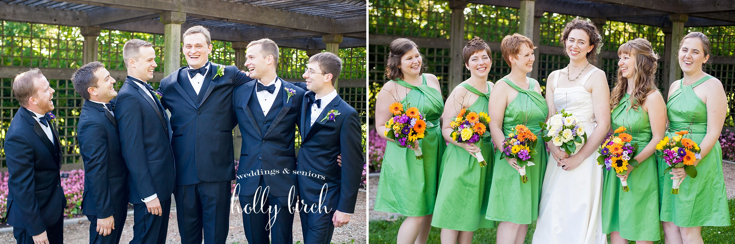 relaxed bridal party