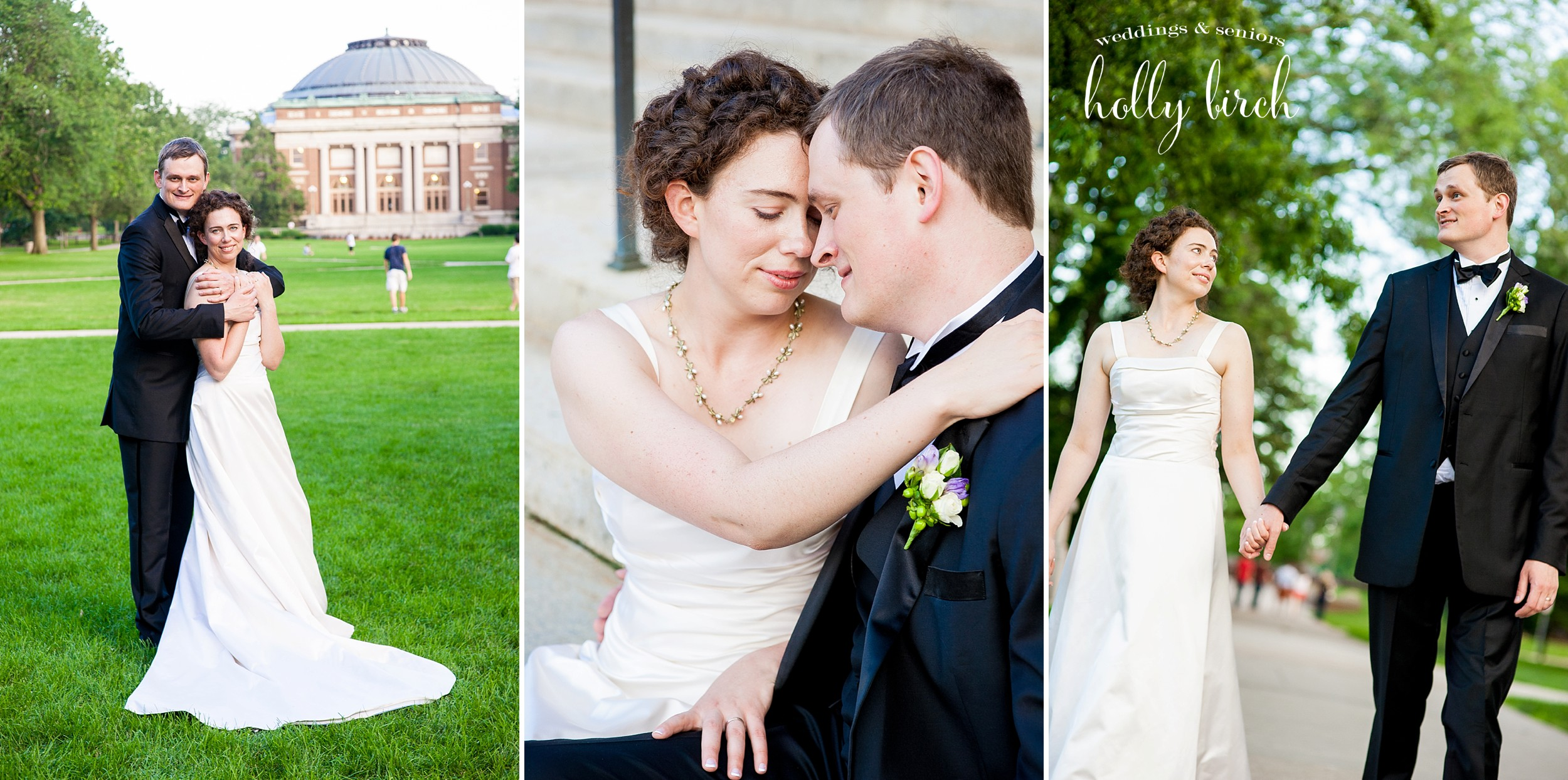University of Illinois quad wedding portraits