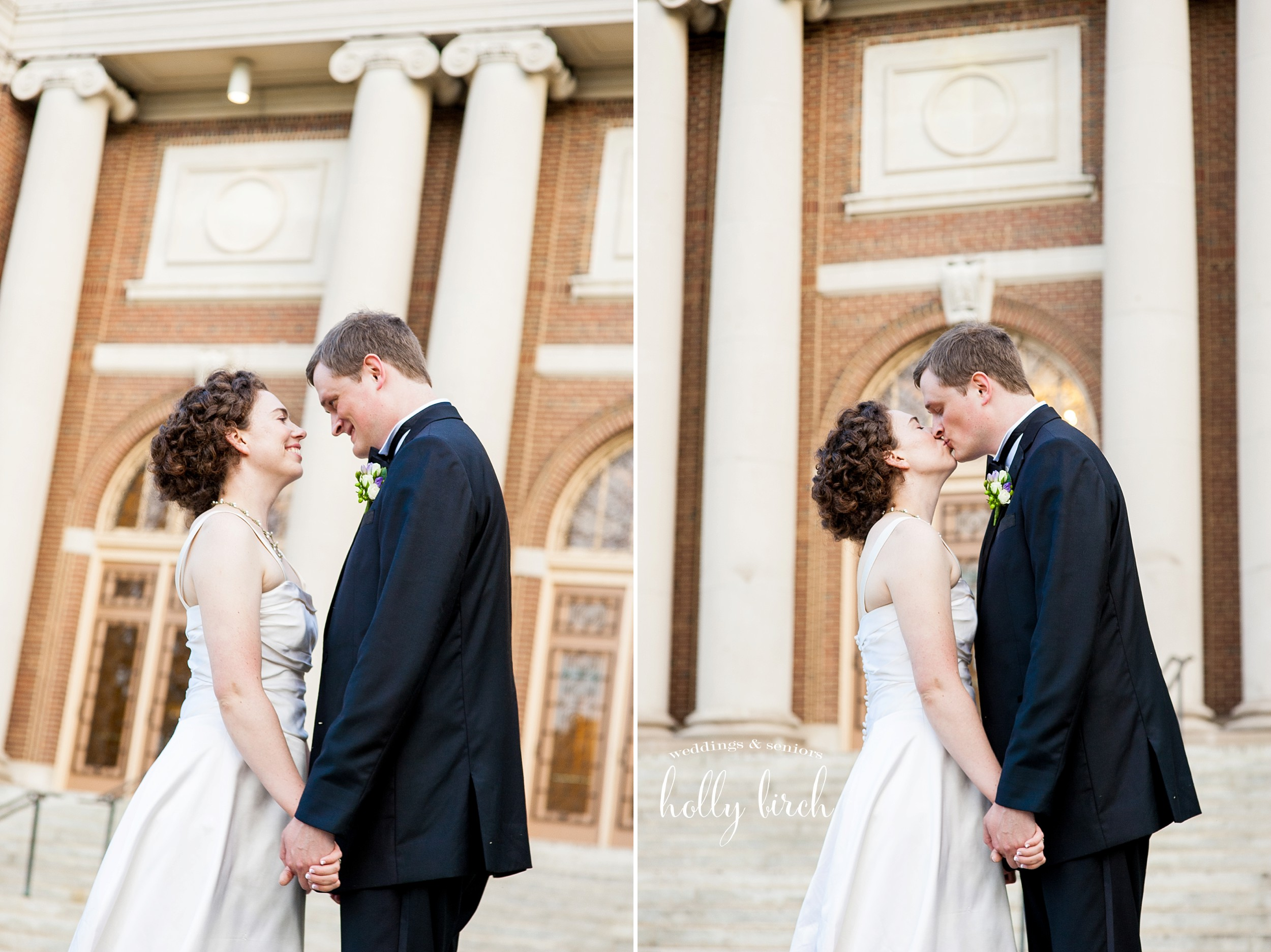Foellinger Auditorium wedding portraits