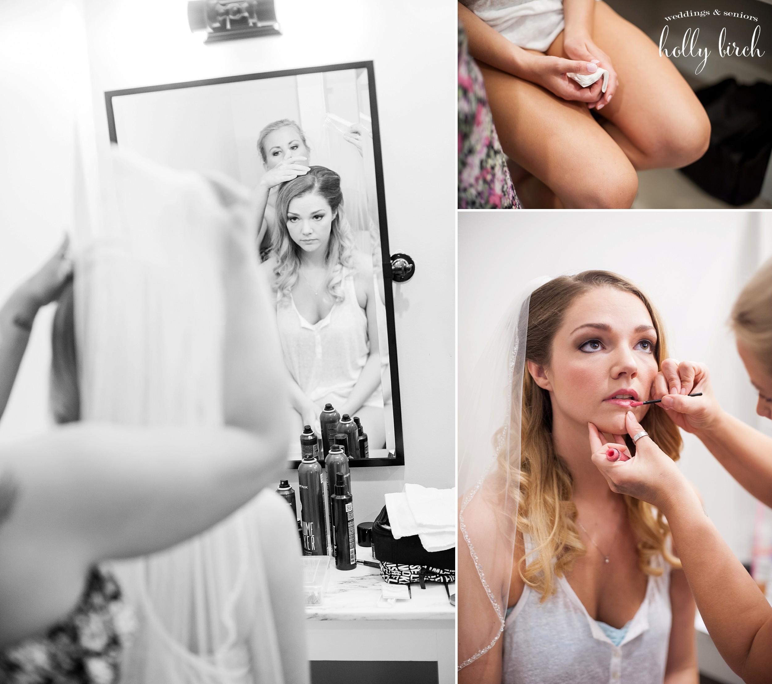 Rod Sickler salon doing bride's makeup