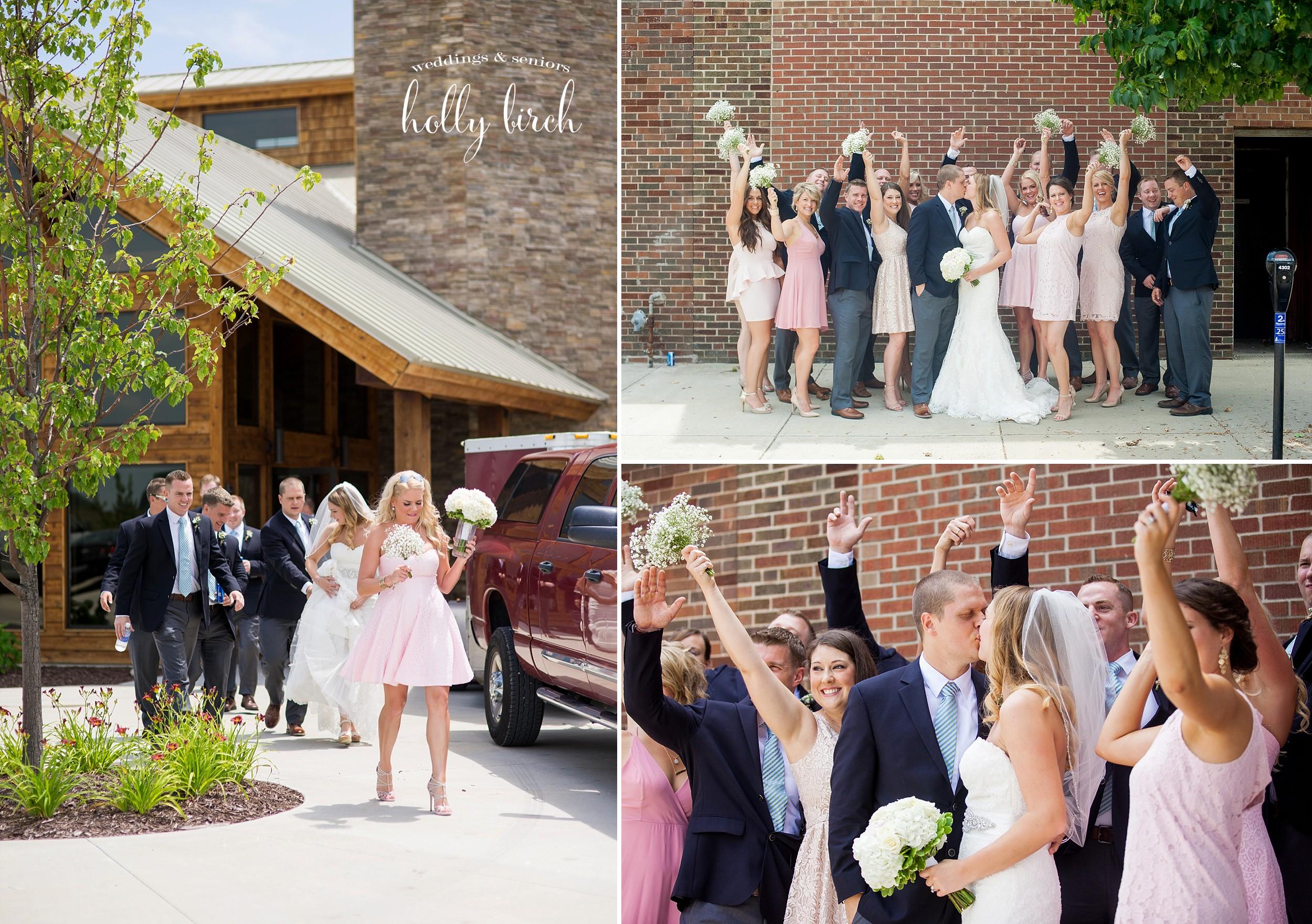 Bridal party action shots