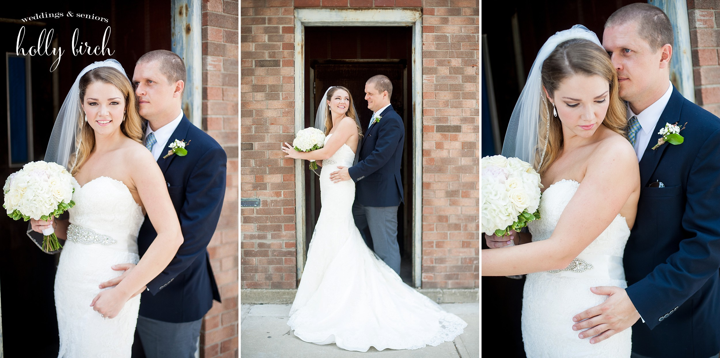 bride and groom romantic portraits