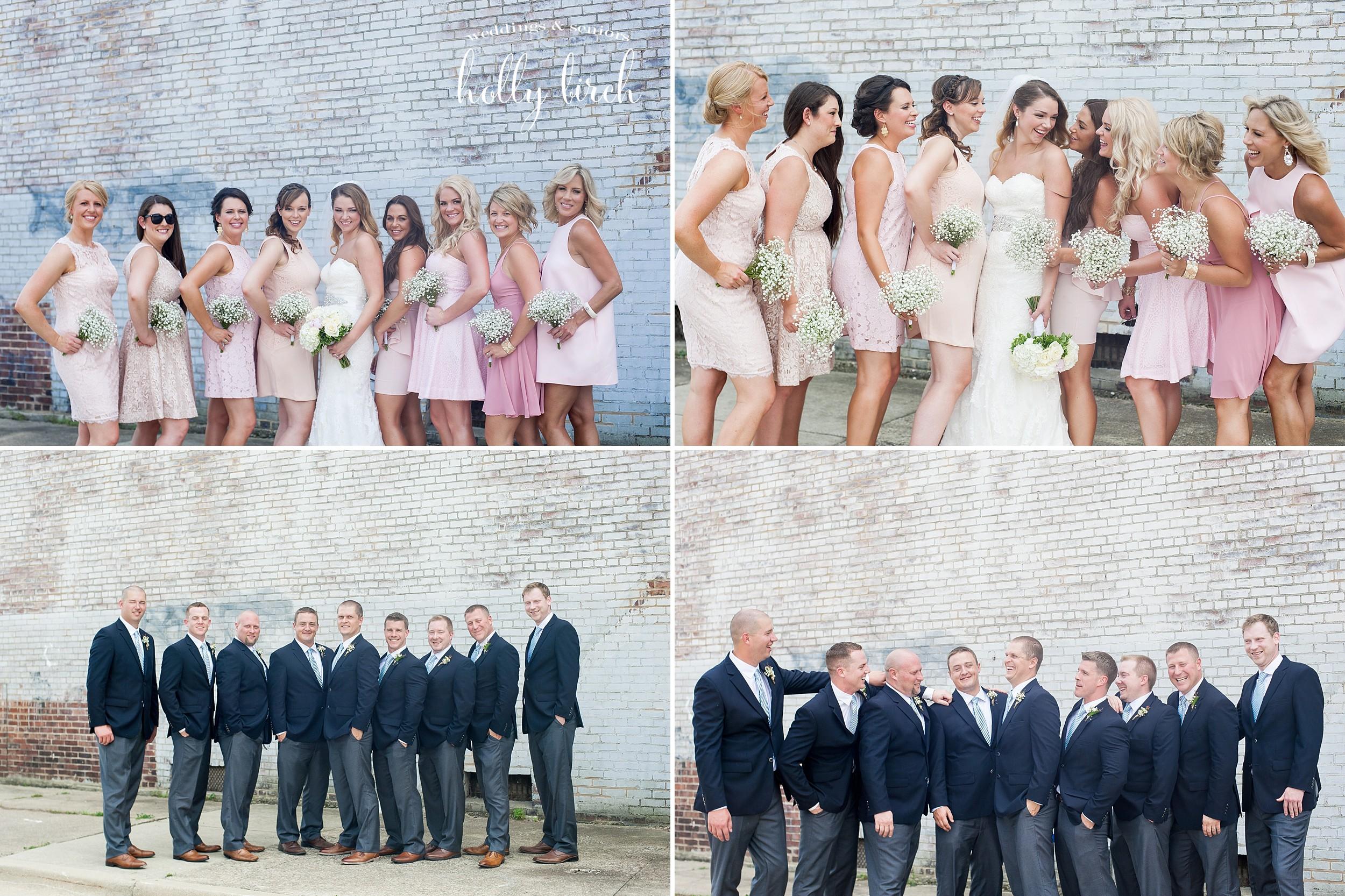 blush bridesmaids and groomsmen