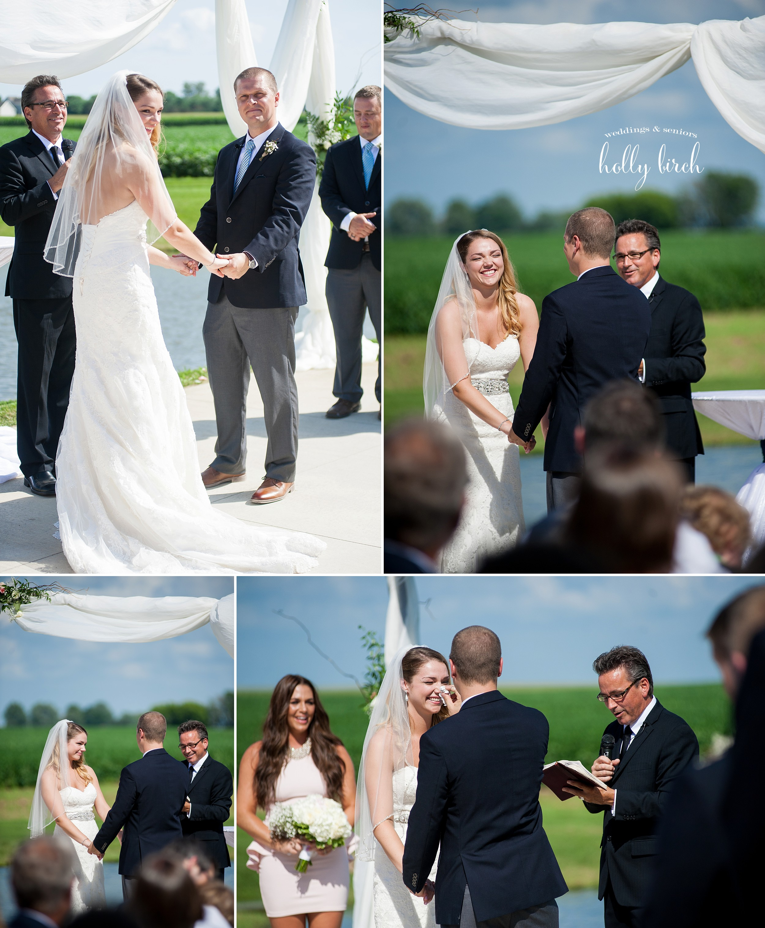 candid expressions from outdoor ceremony