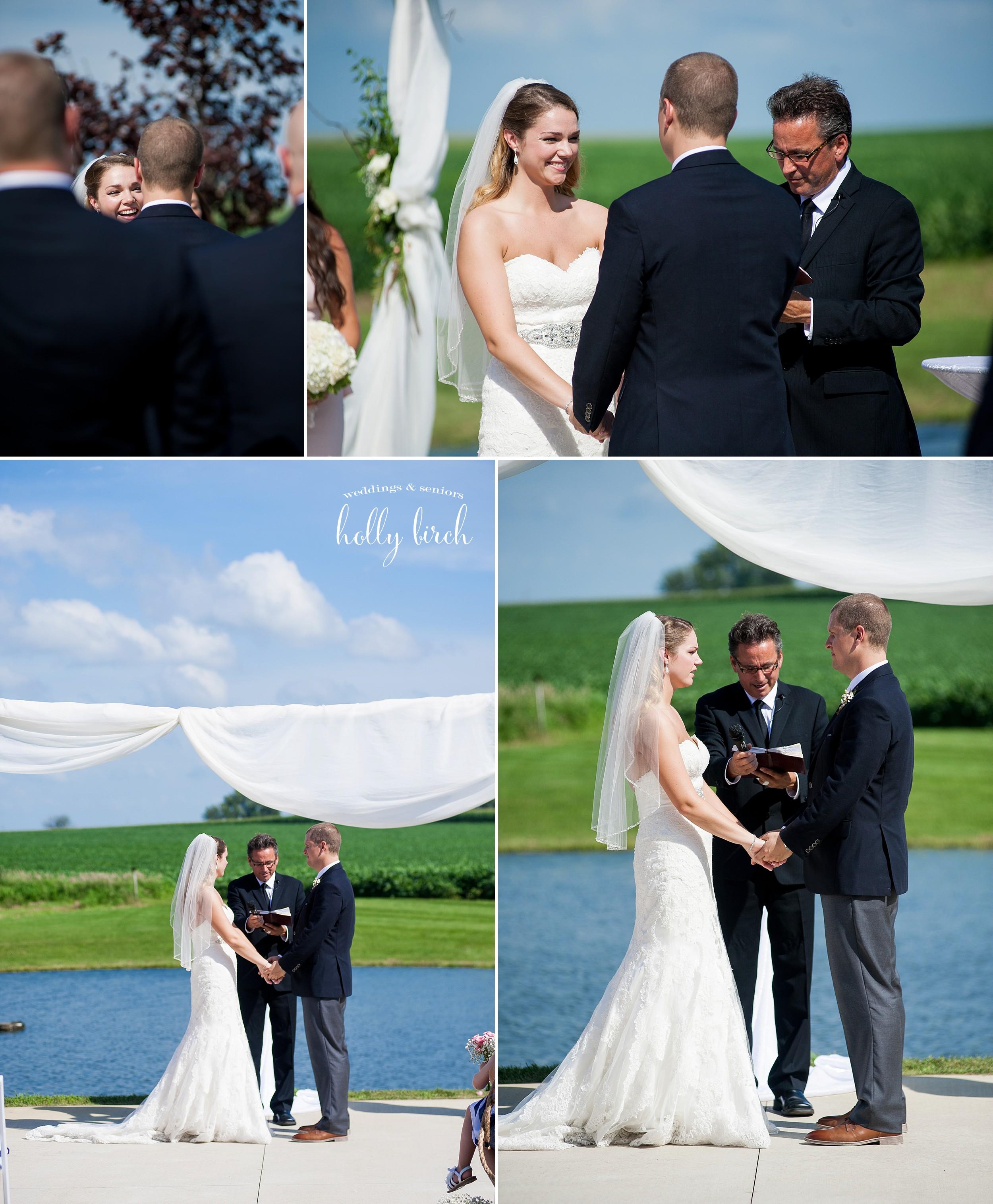 perfect blue sky wedding ceremony