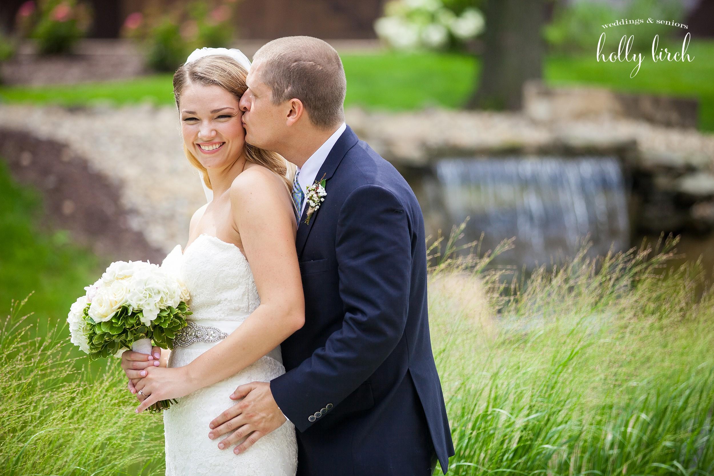 fun loving bride and groom