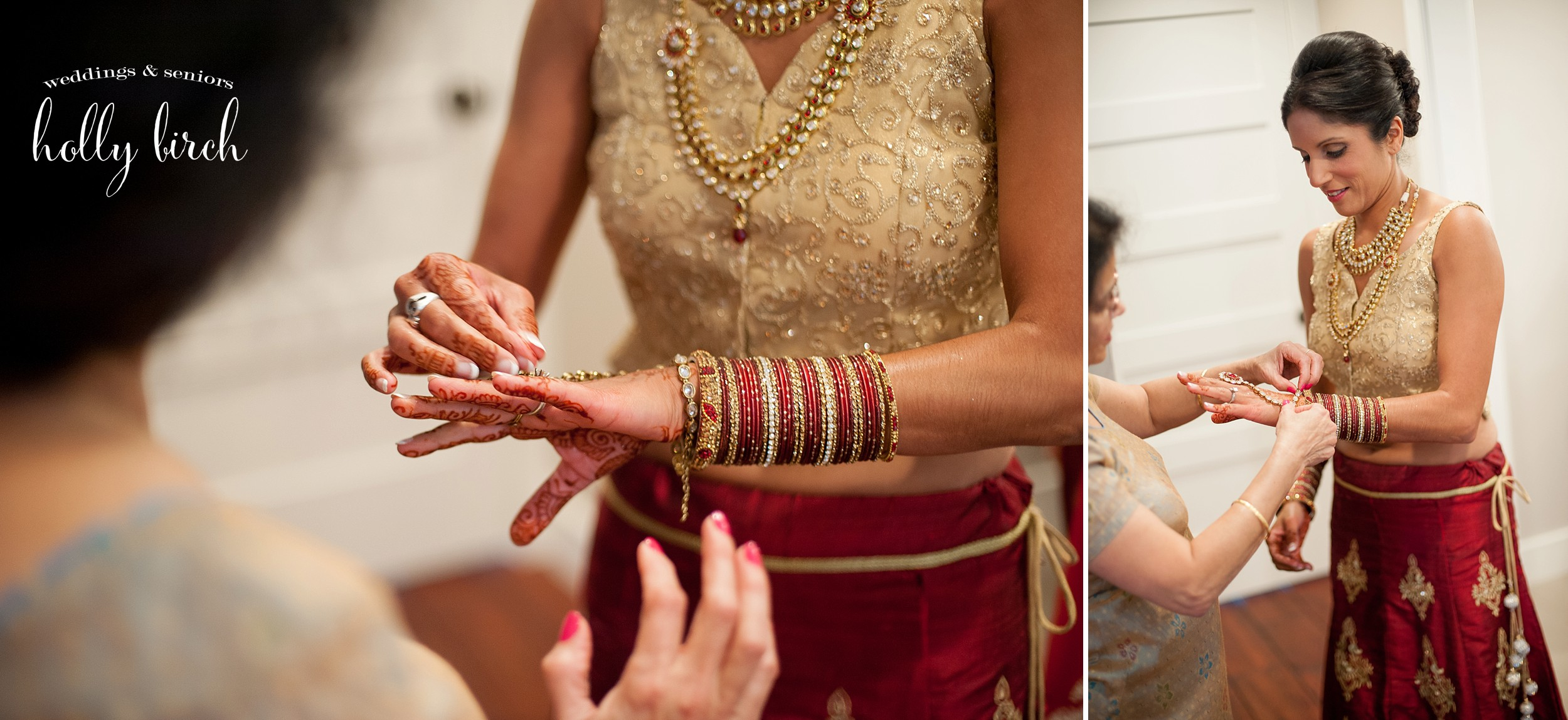red gold bangles