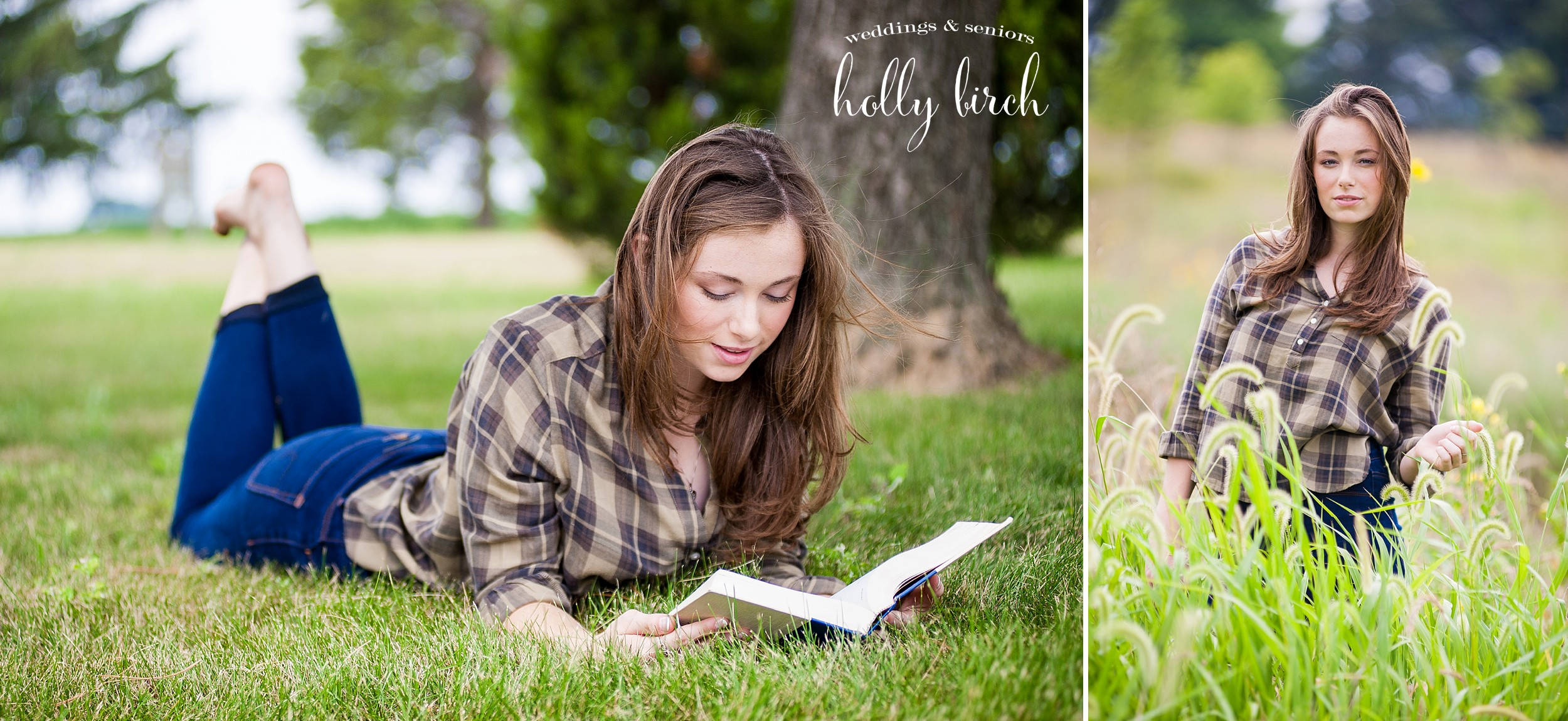 photos of girl reading in grass