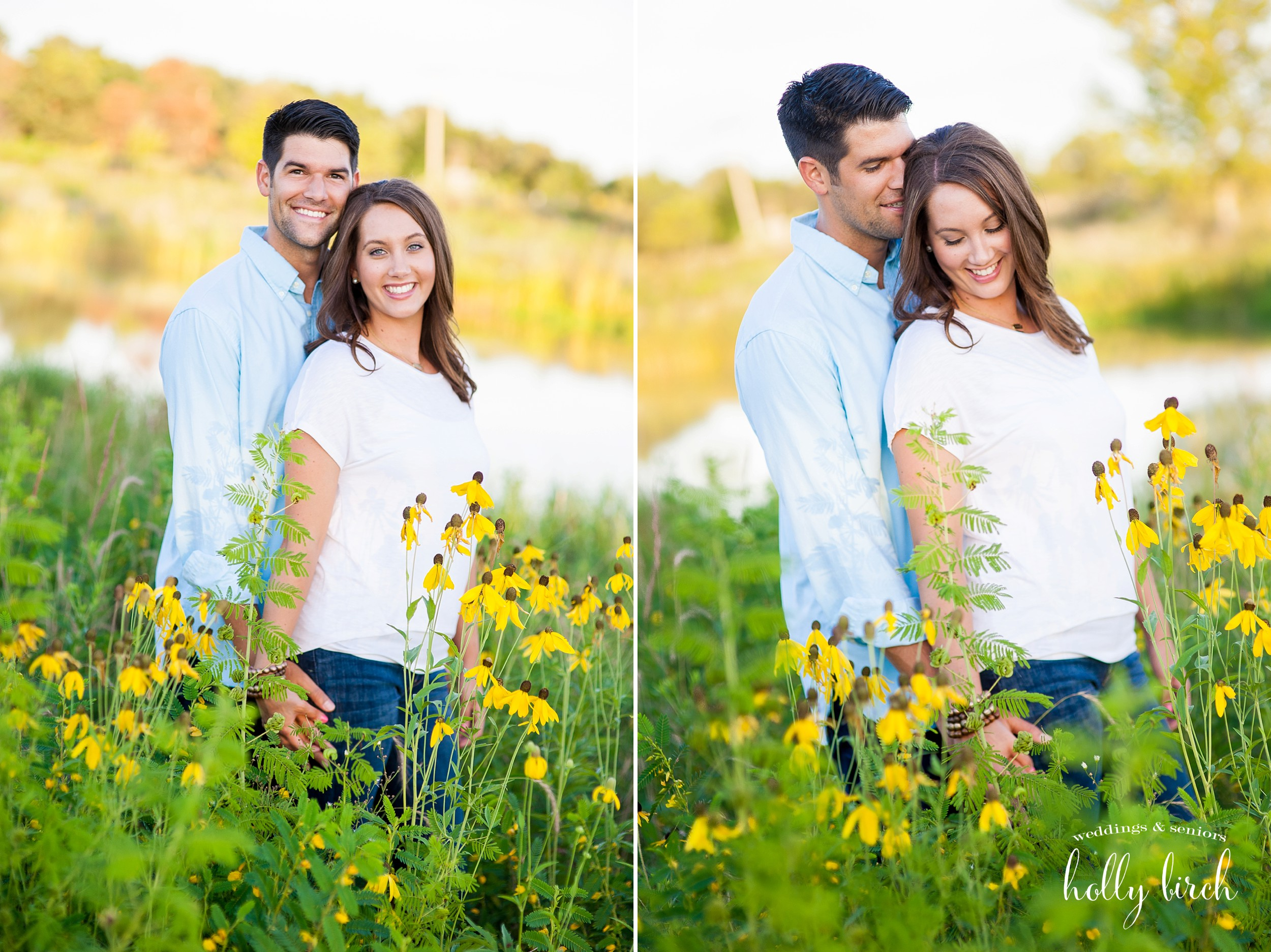 engagement pictures at golden hour