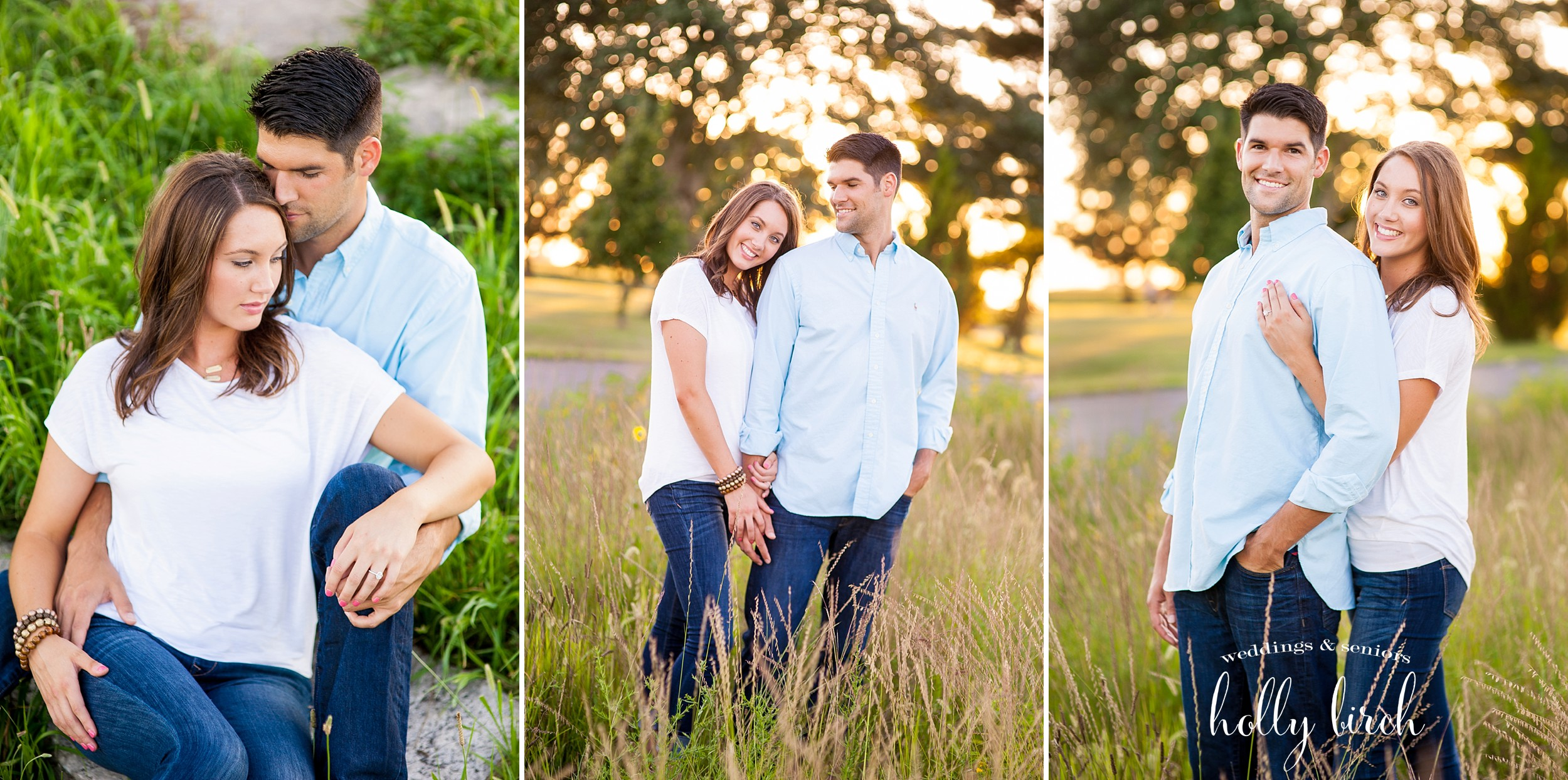 tall grass engagement pics