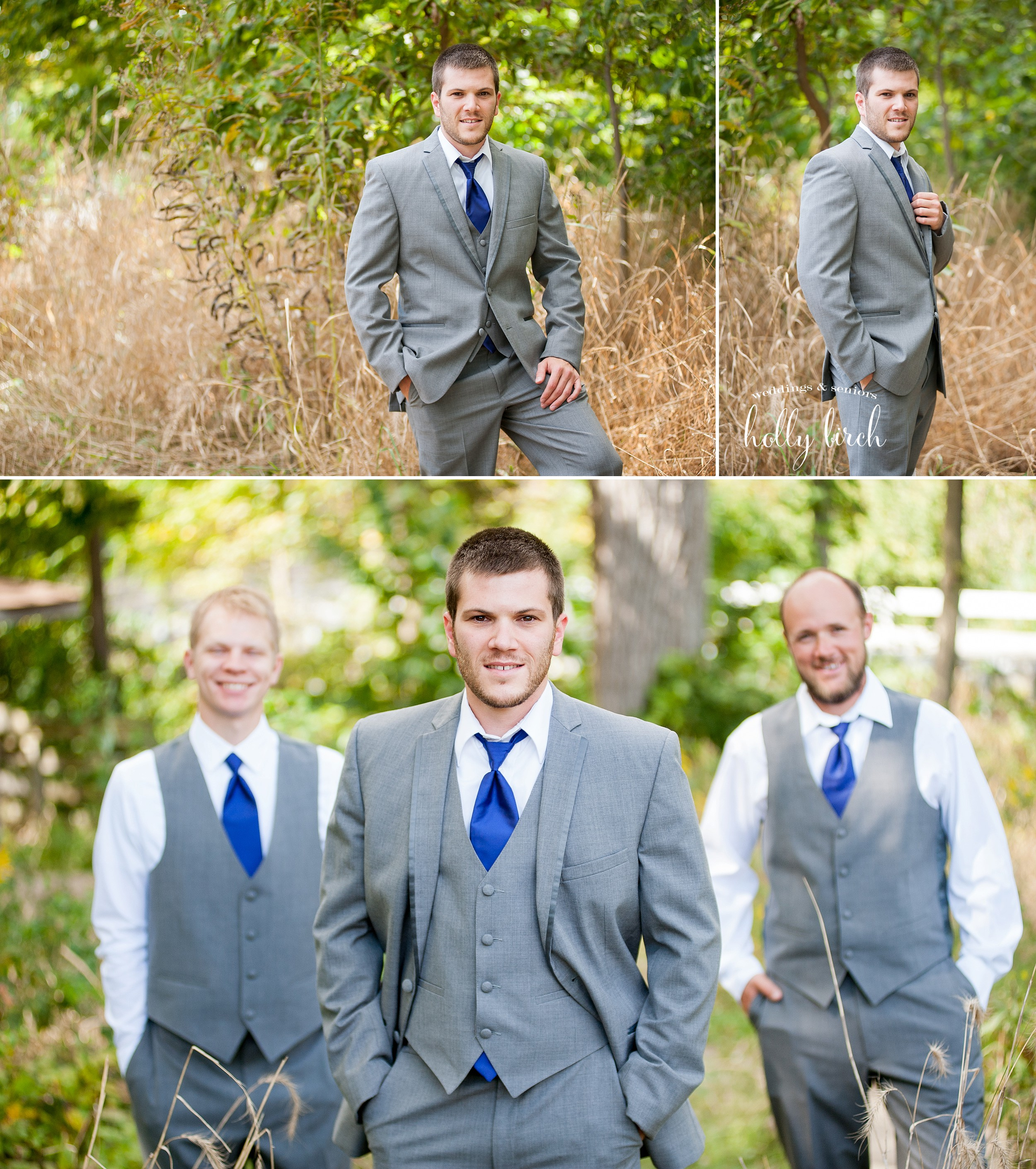 groom and groomsmen at Busey Woods Urbana