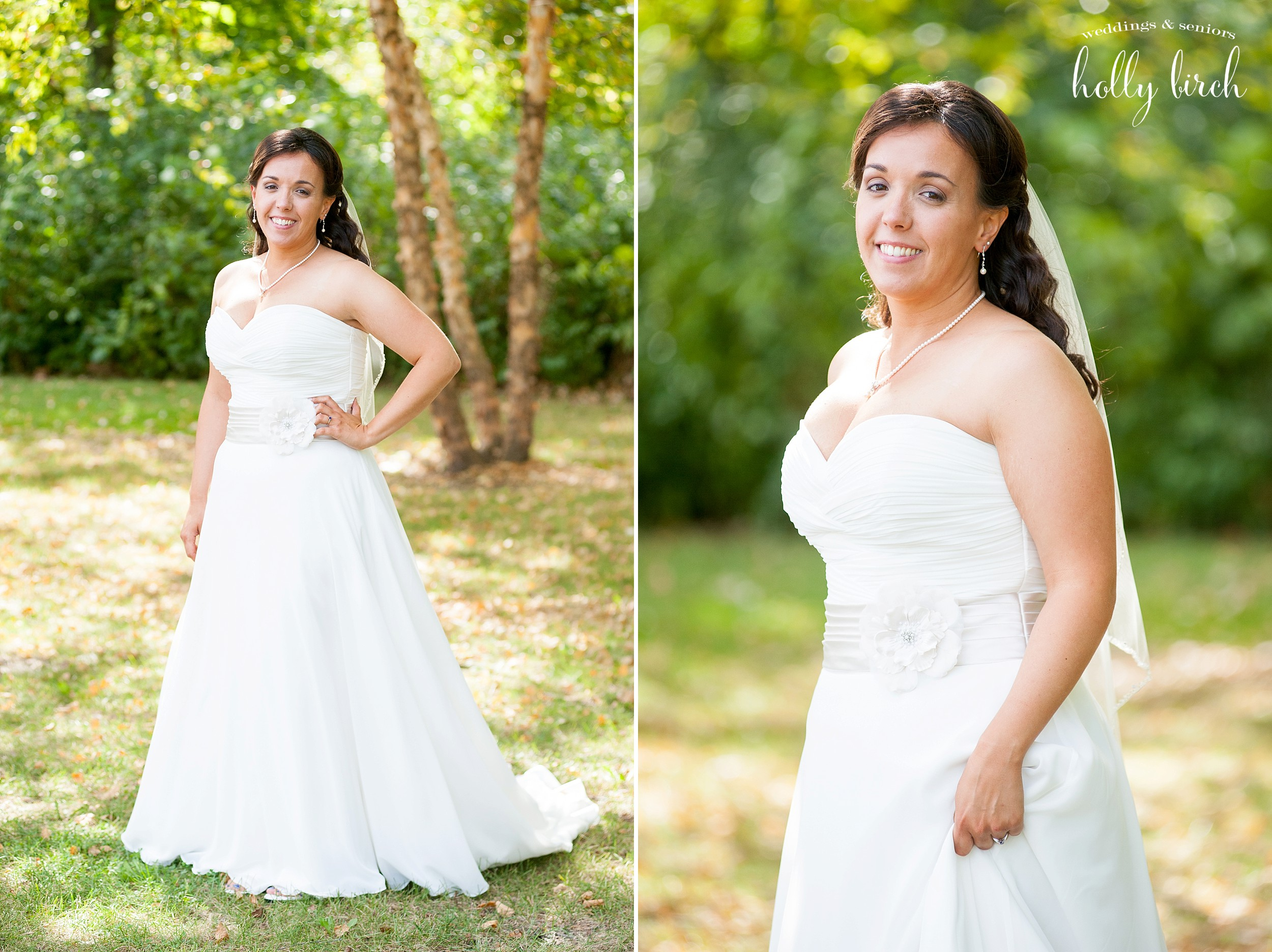Bridal portraits with sunlight