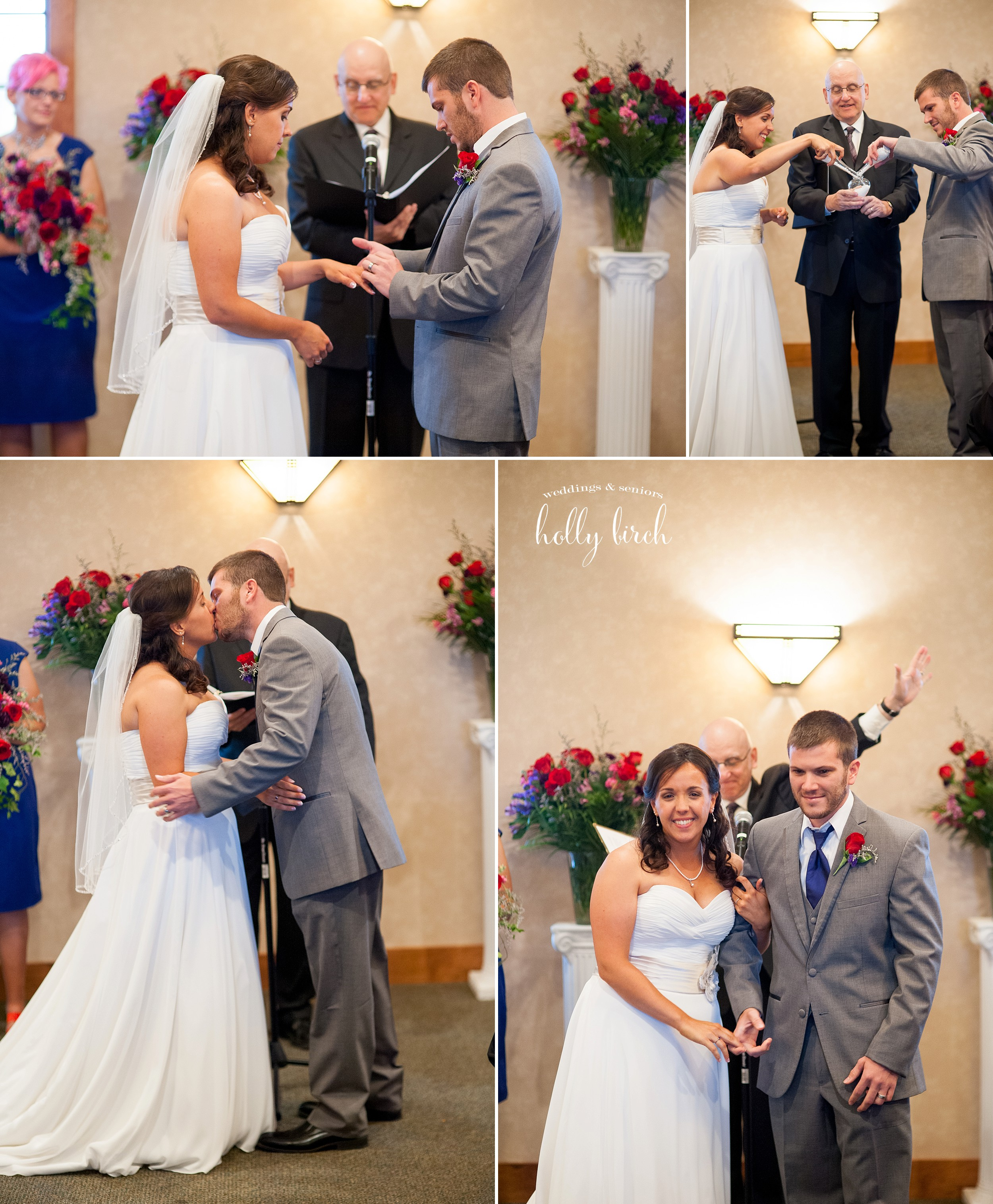 Stone Creek indoor wedding ceremony