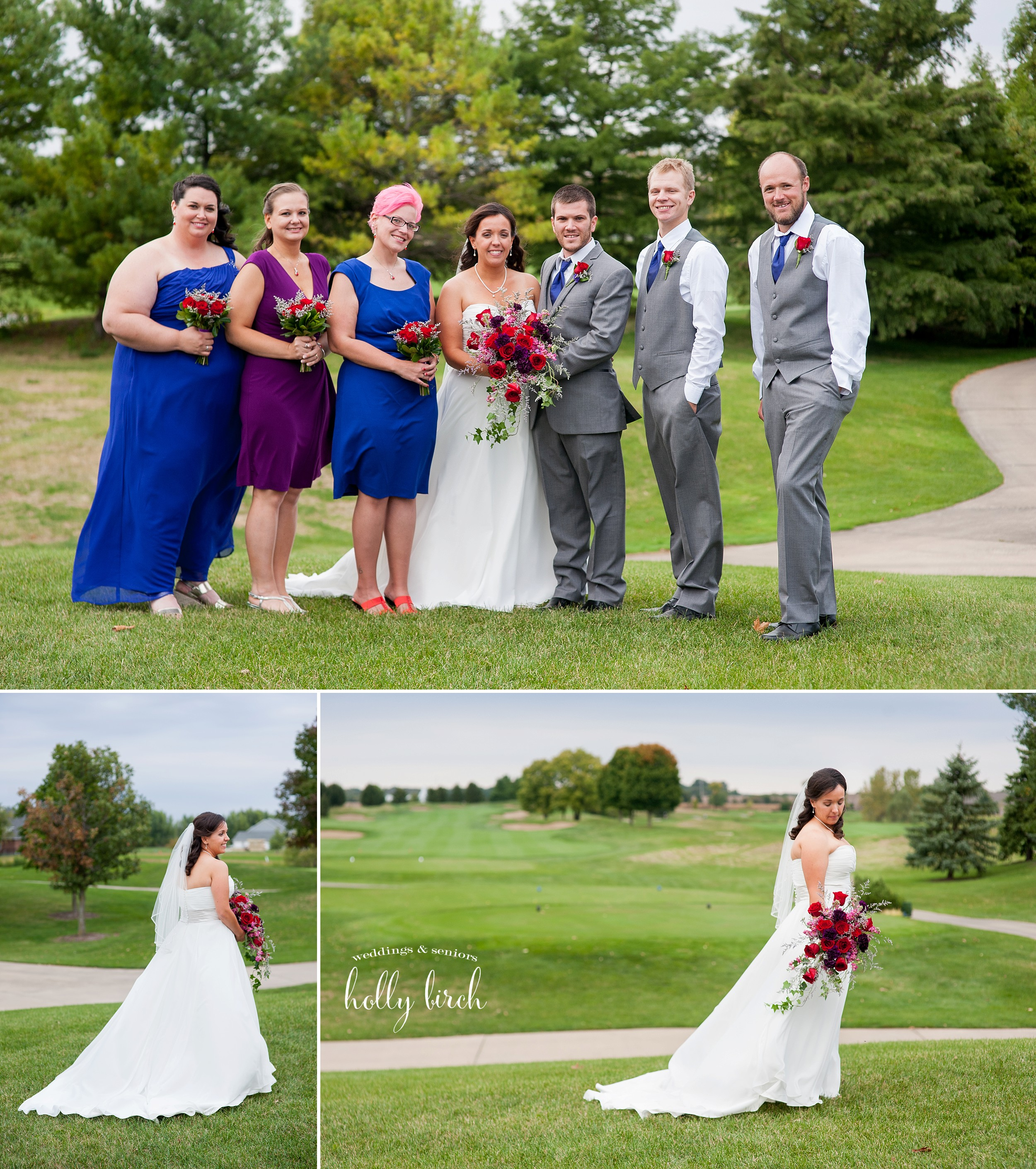wedding party on Stone Creek golf course